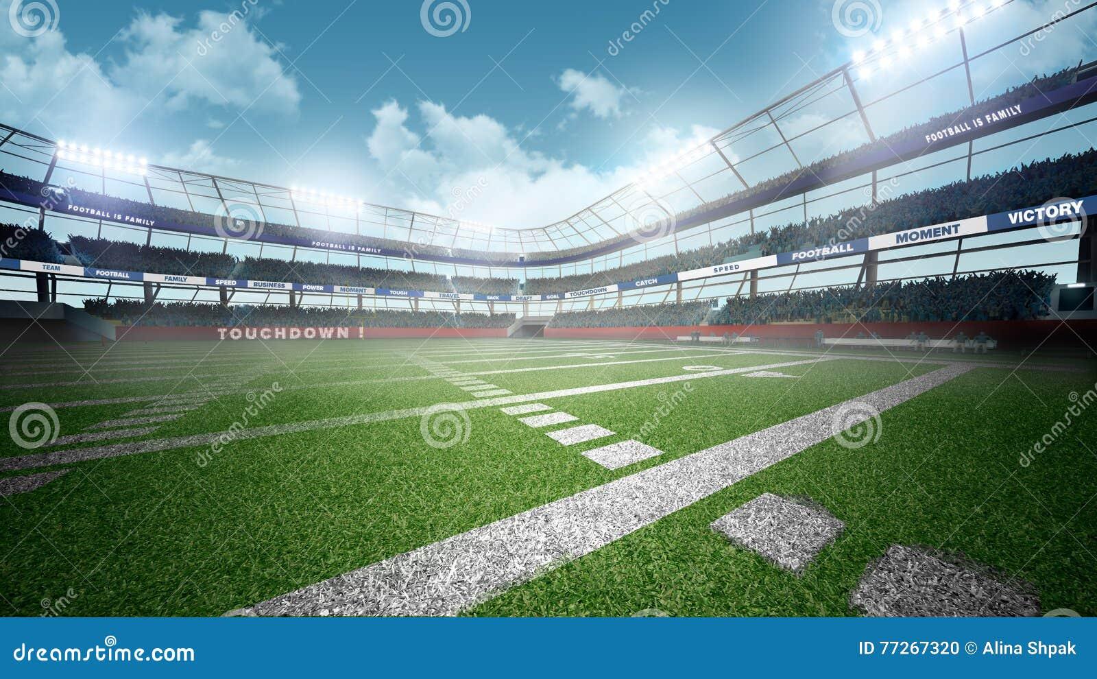 американский футбольный стадион