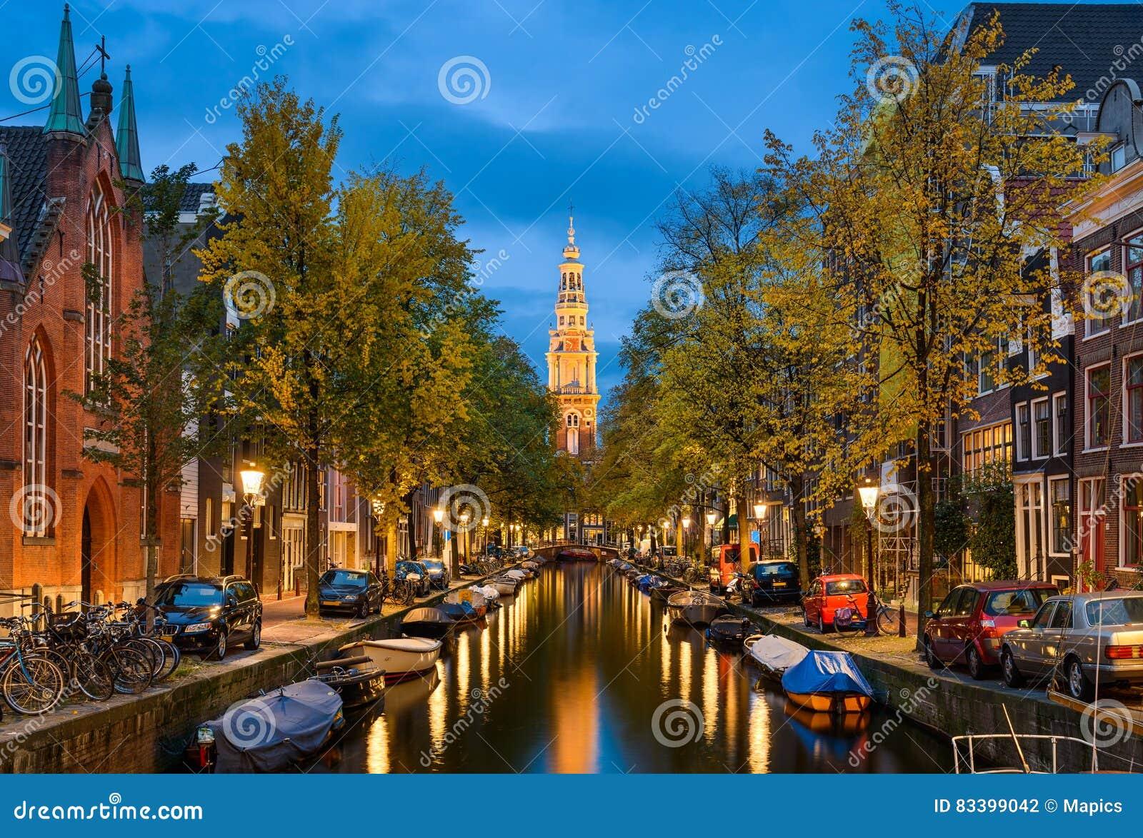 Амстердам на ноче, Нидерландах