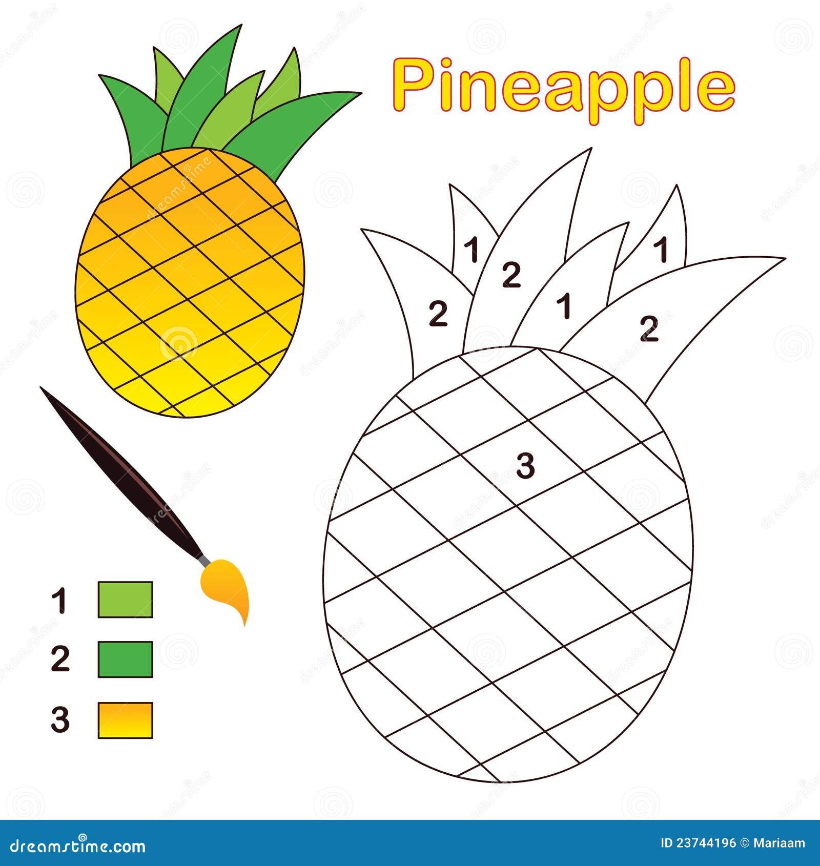 ананас номера цвета