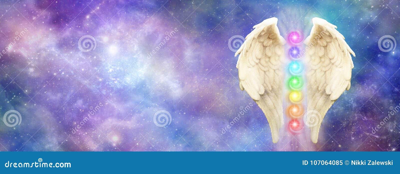 Ангеликовое космическое знамя вебсайта попечителя