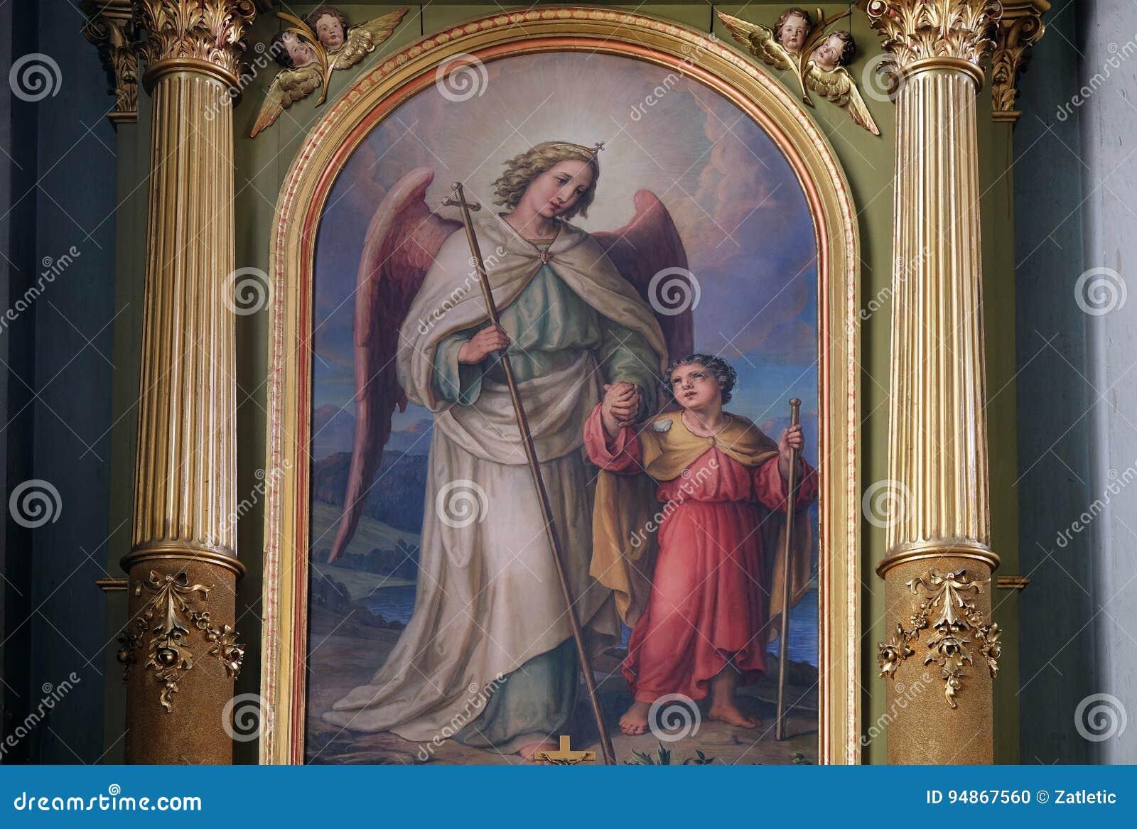 Ангел-хранитель, altarpiece в базилике священного сердца Иисуса в Загребе