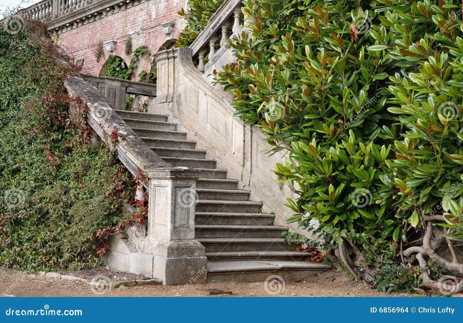 английский дом сада водя представительные шаги к