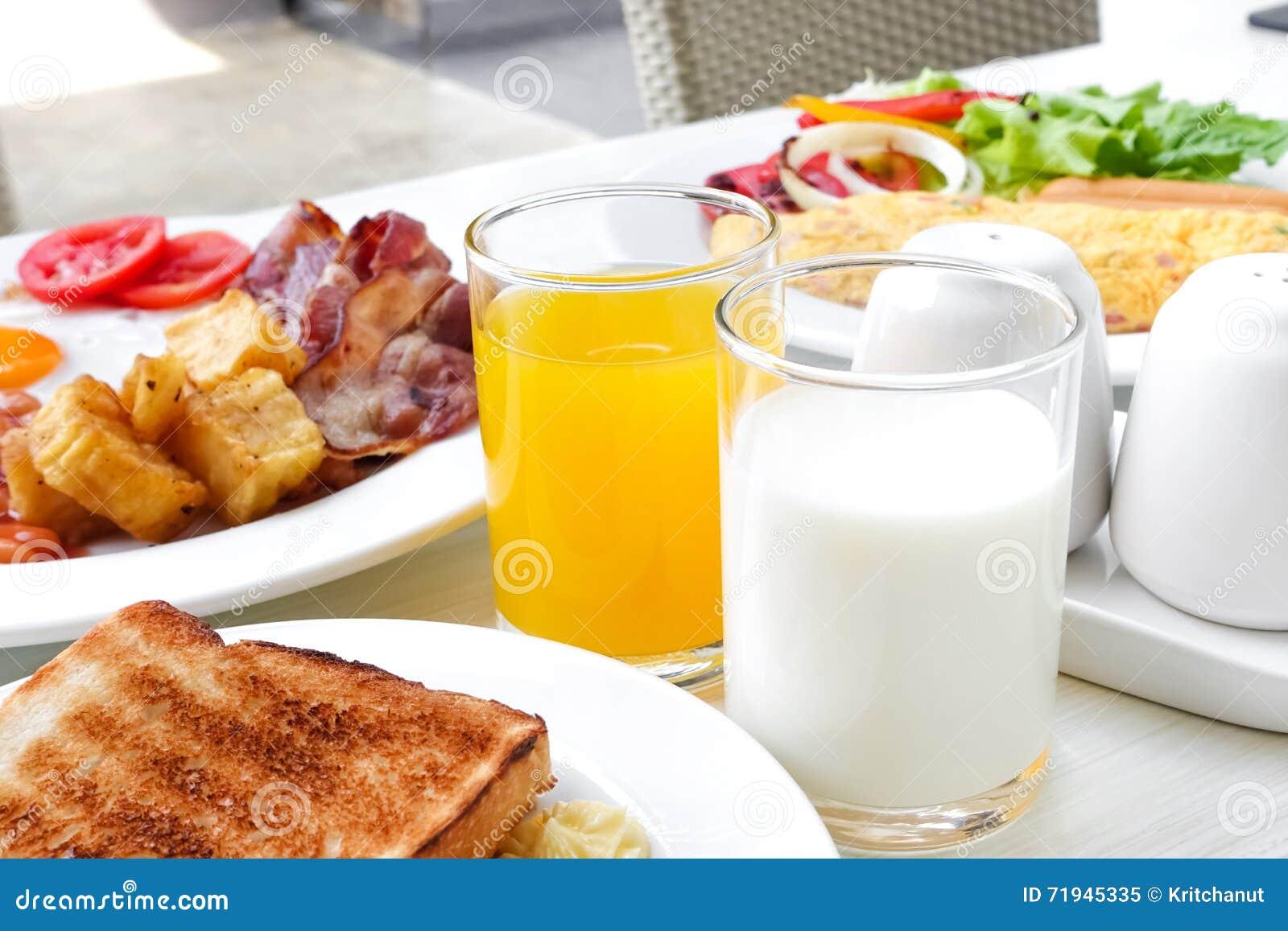английская язык завтрака