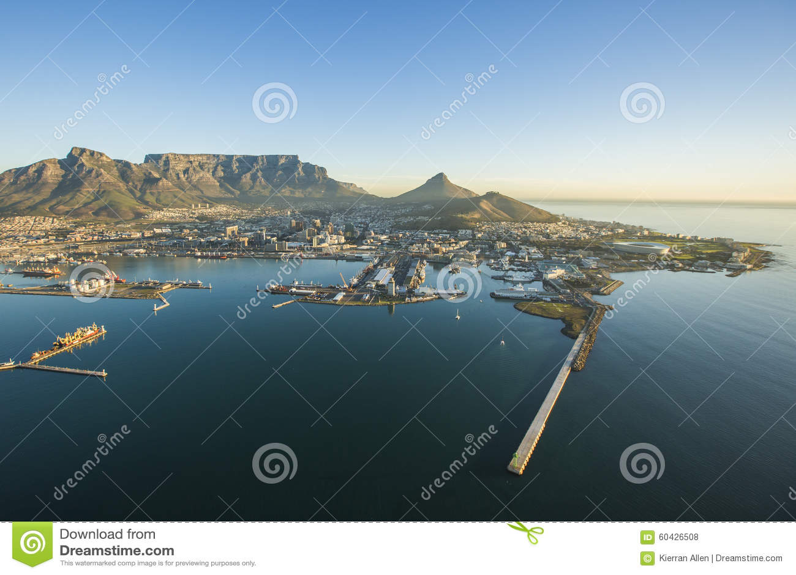 Антенна горы Южной Африки таблицы Кейптауна
