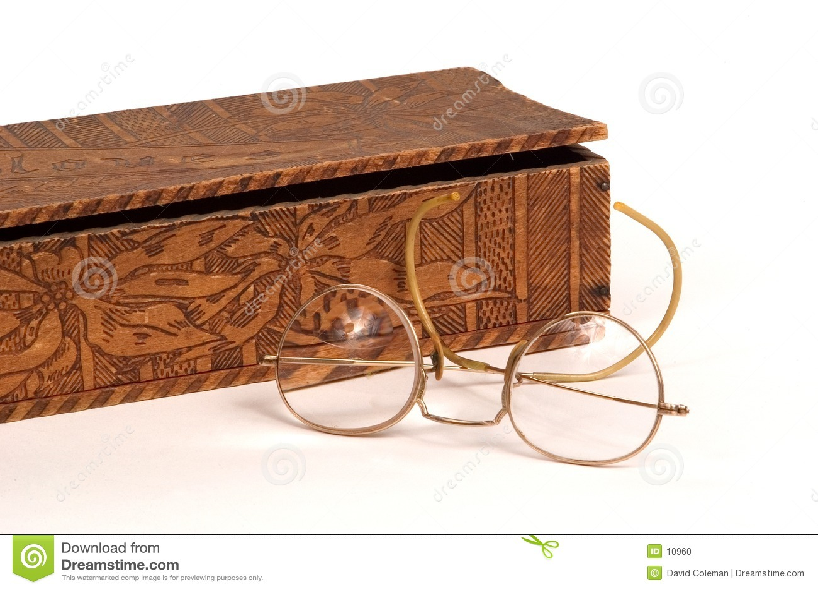 античная перчатка стекел коробки