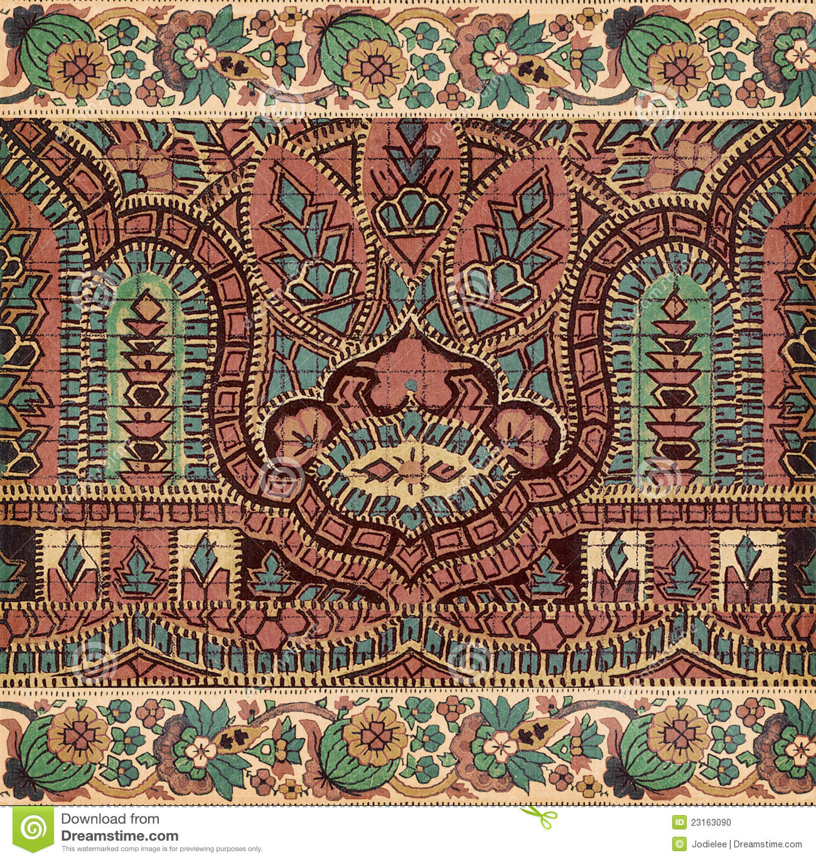 Античная предпосылка индейца paisley сбора винограда