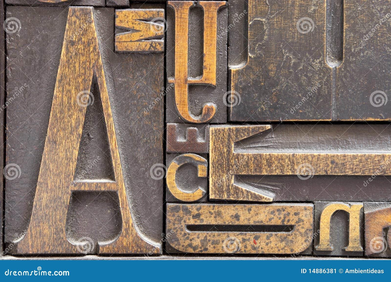 античное печатание печатных букв