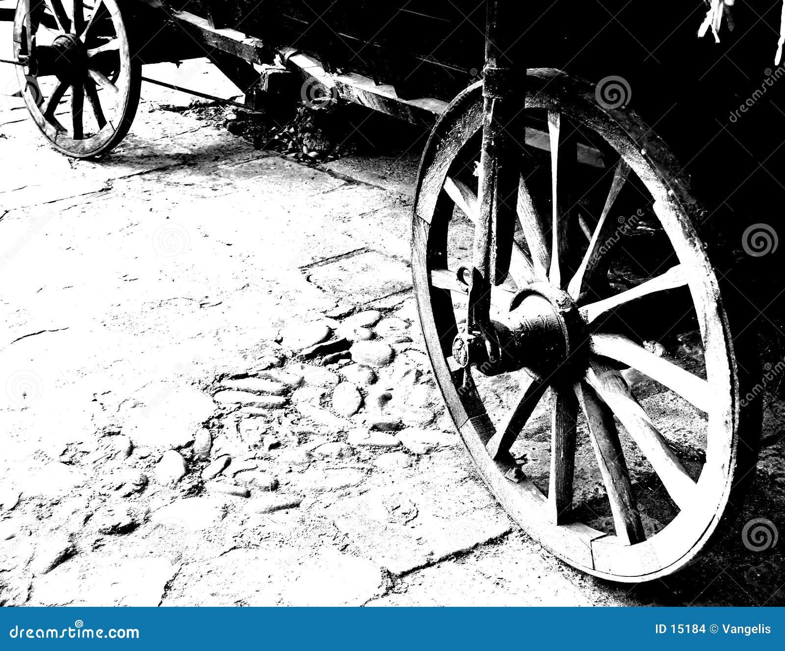 античные колеса фуры