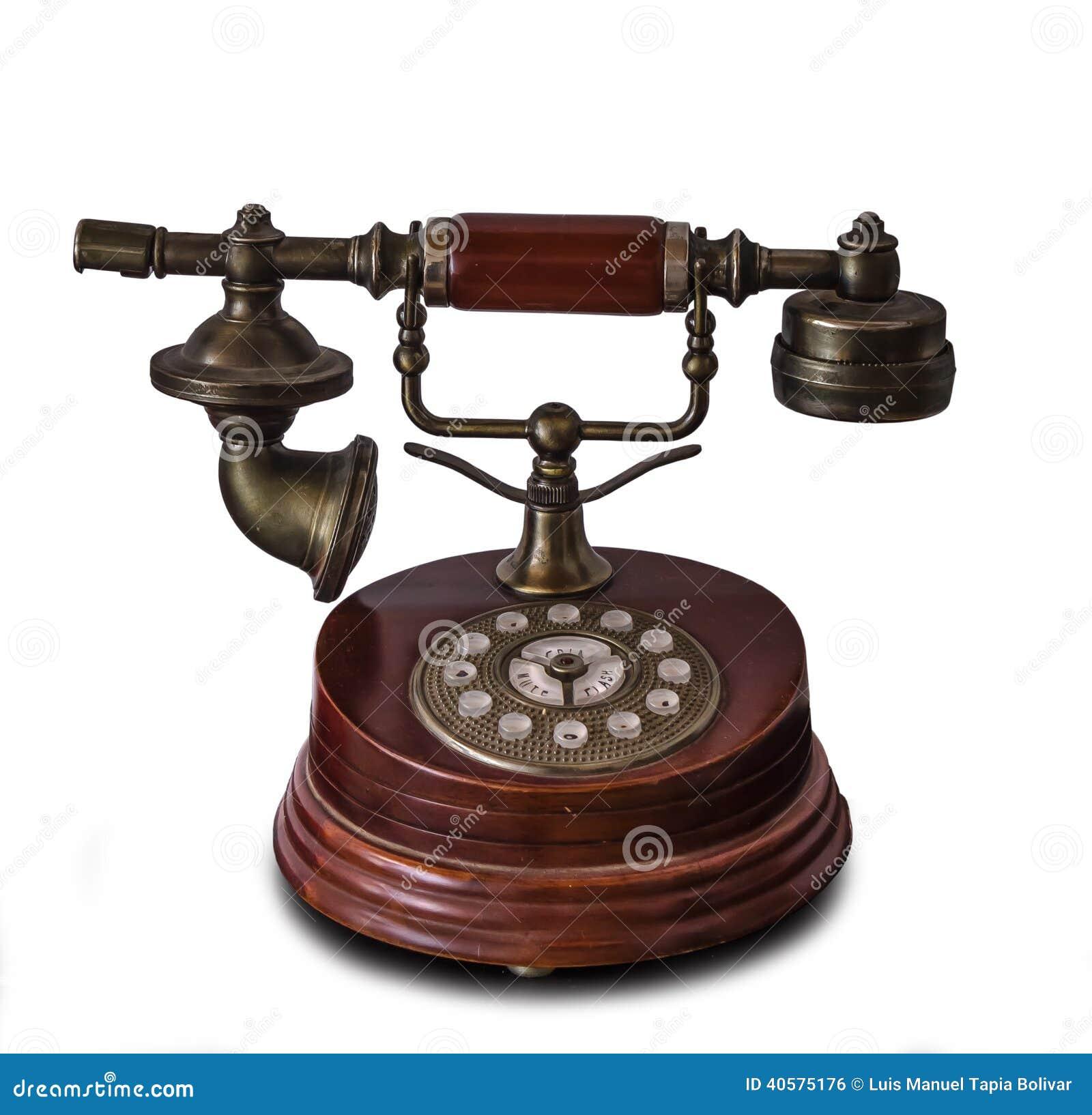 Античный изолированный телефон