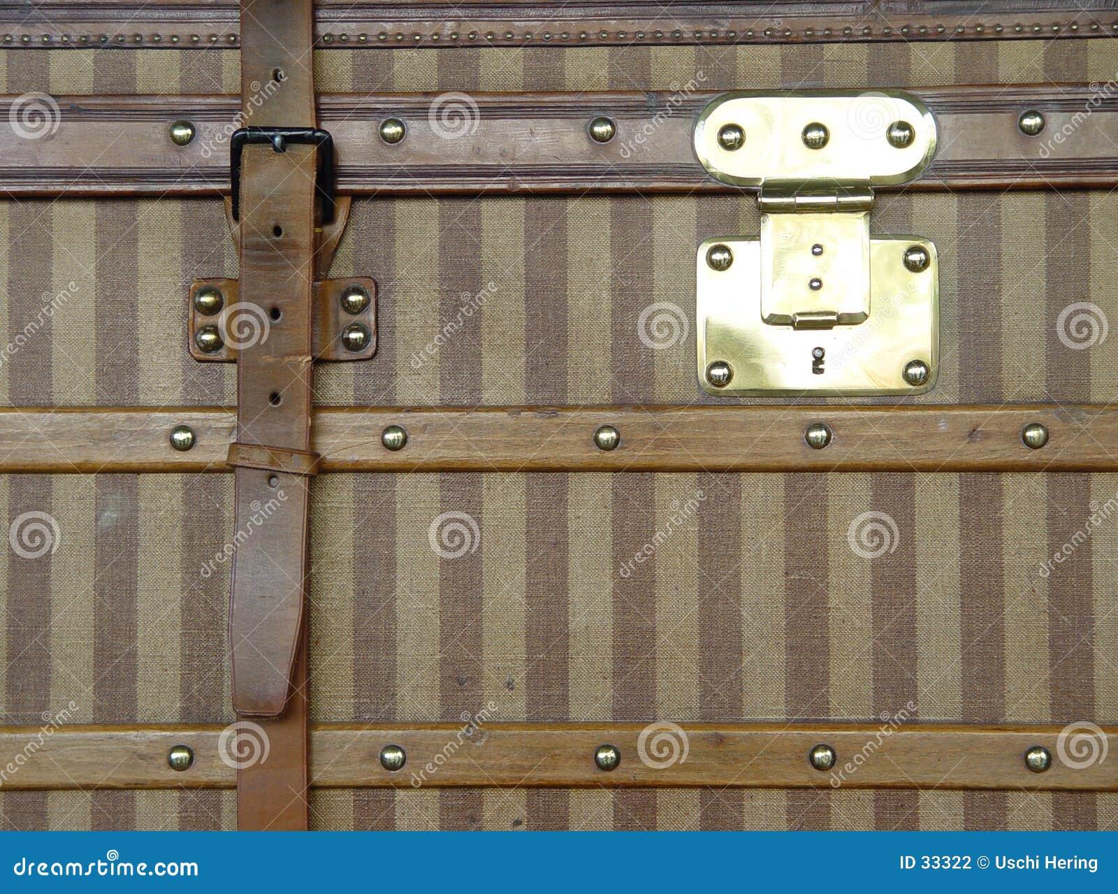 античный роскошный чемодан