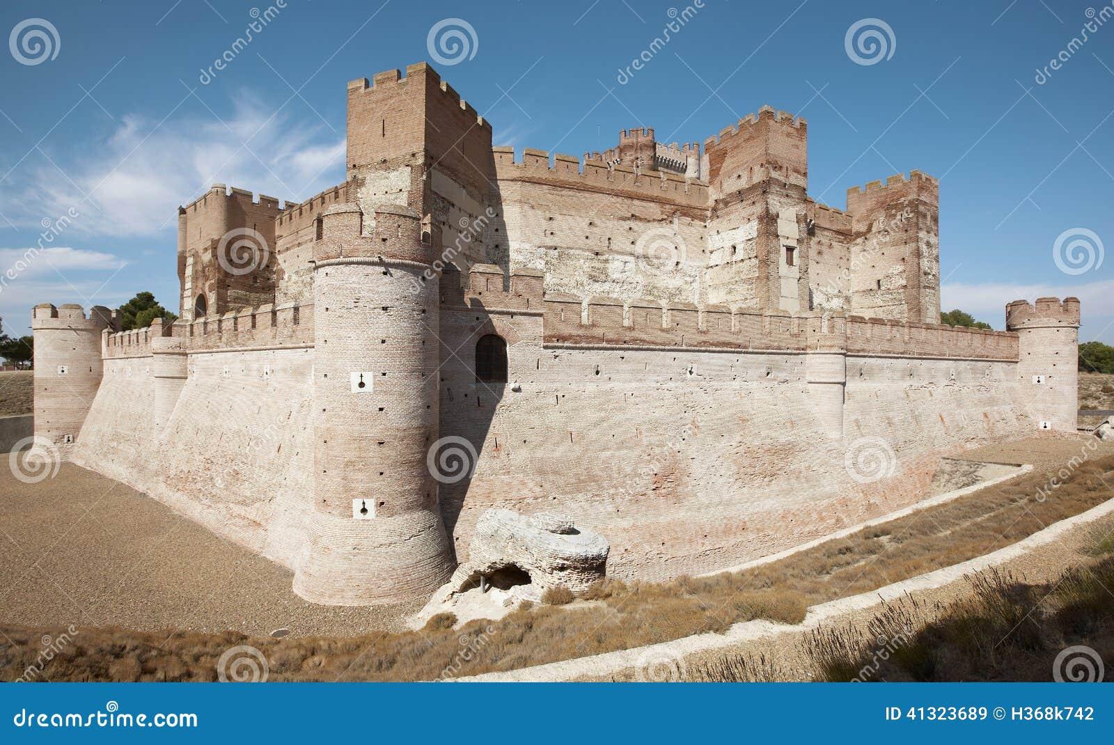 Античный средневековый замок средневеково campo del medina Испания