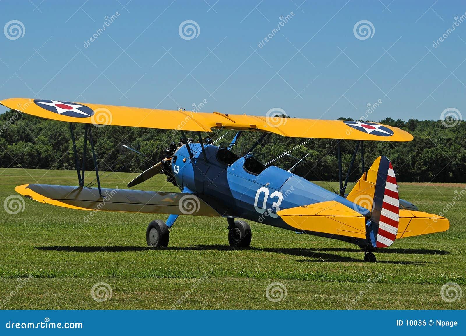 античный no1 самолет-биплана