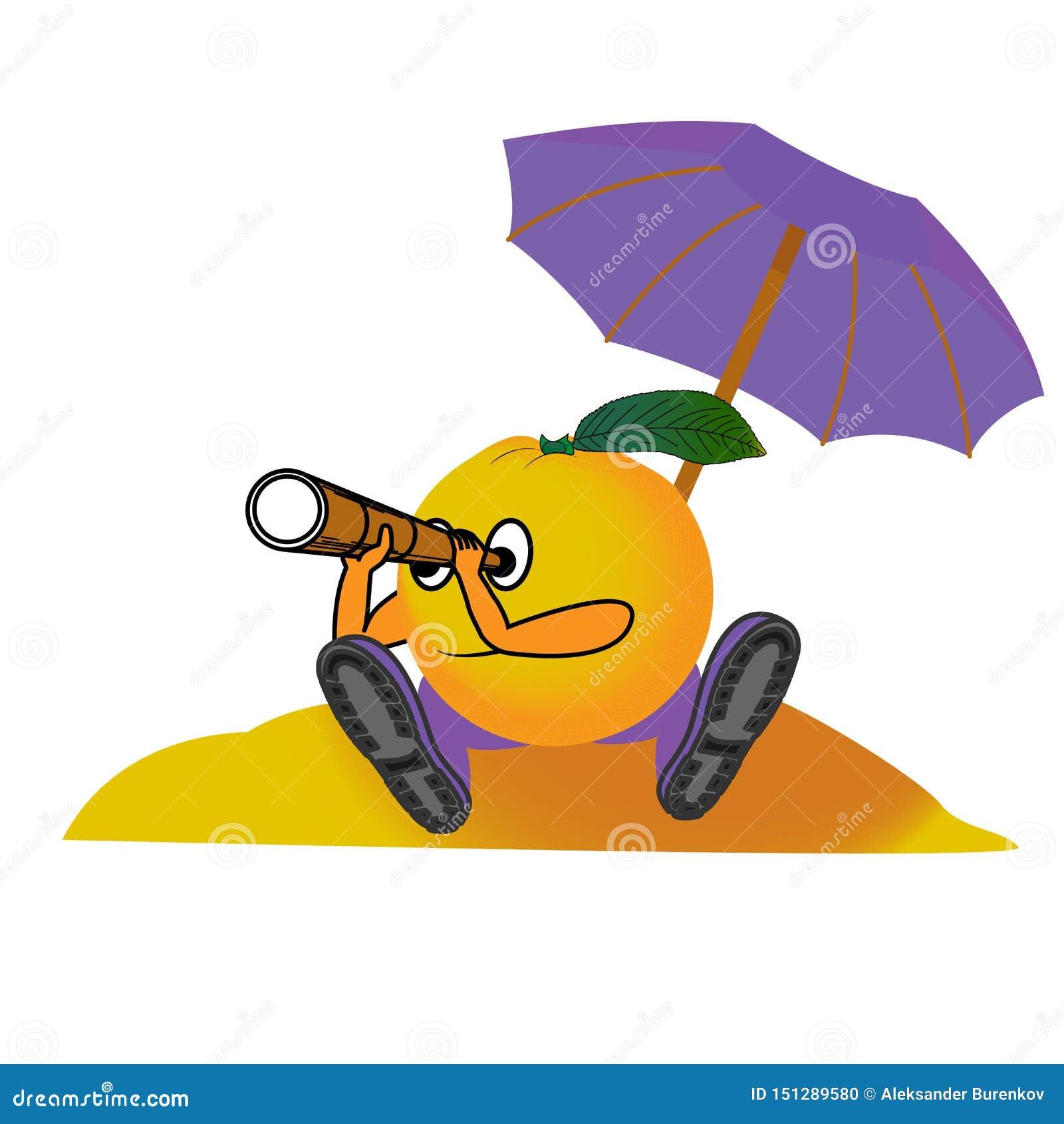 Апельсин на пляже