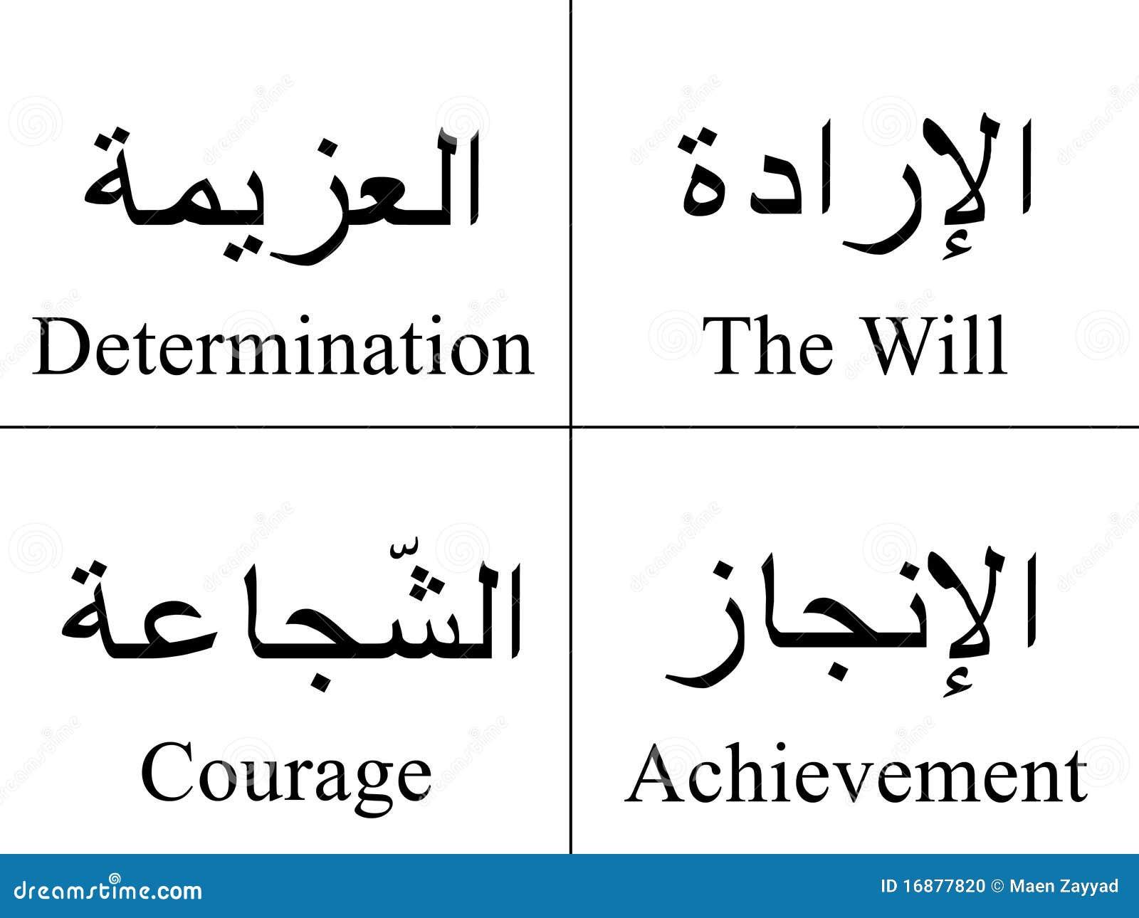 Арабские слова и перевод тату