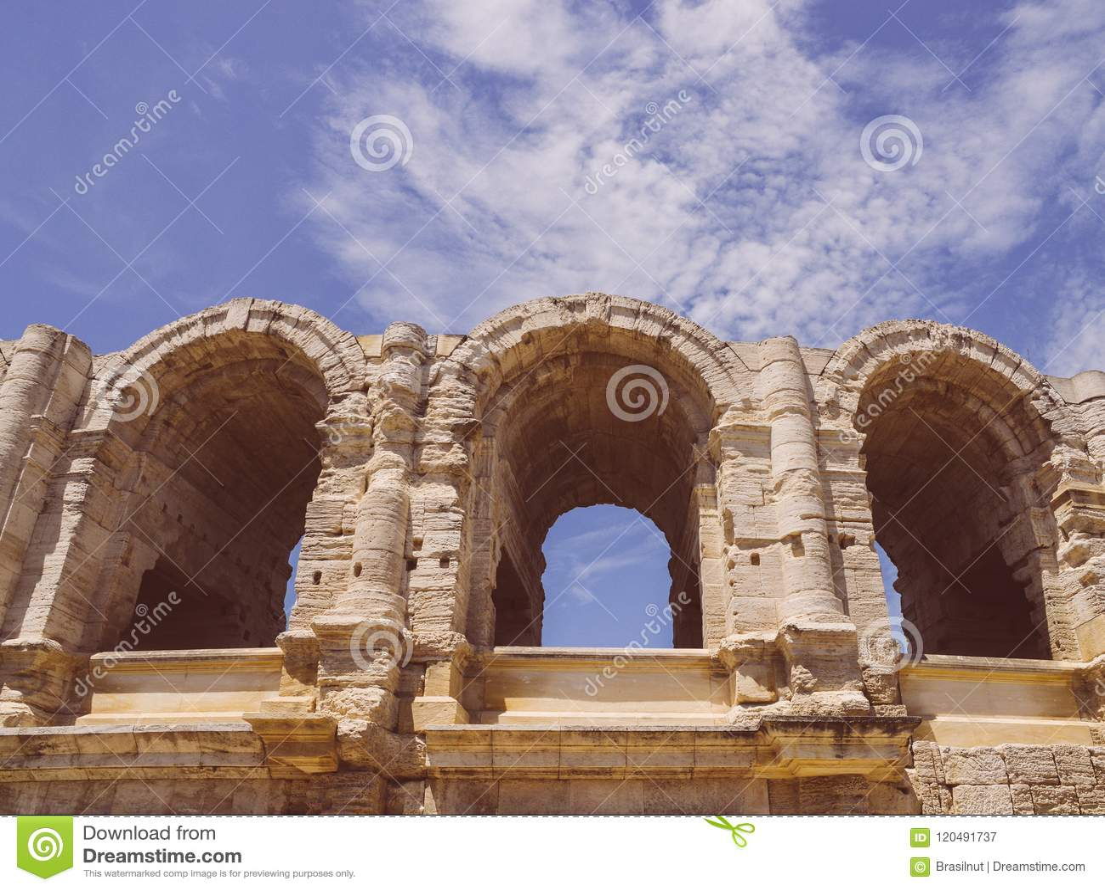 Арена и римский амфитеатр, Arles, Провансаль, Франция