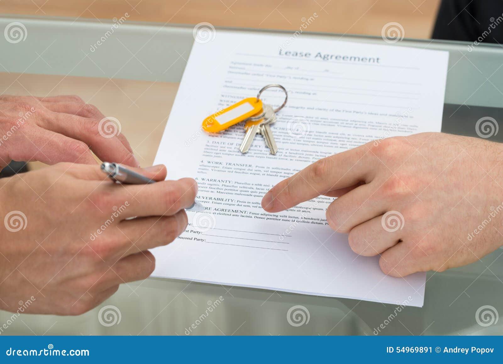 Арендный договор подписания персоны