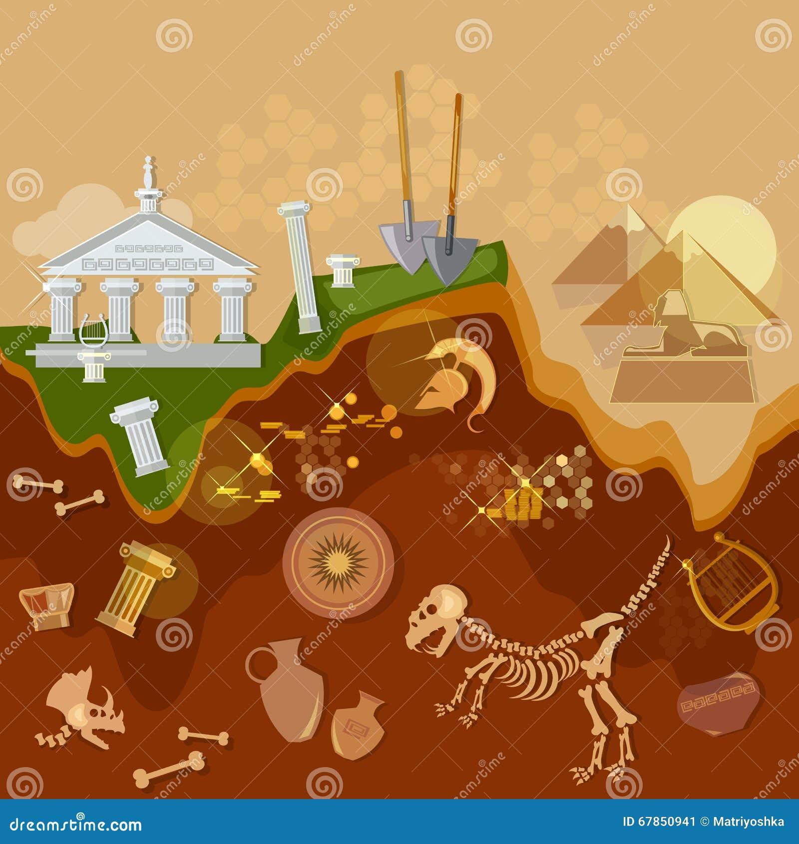 Артефакты охотников за сокровищами археологии старые