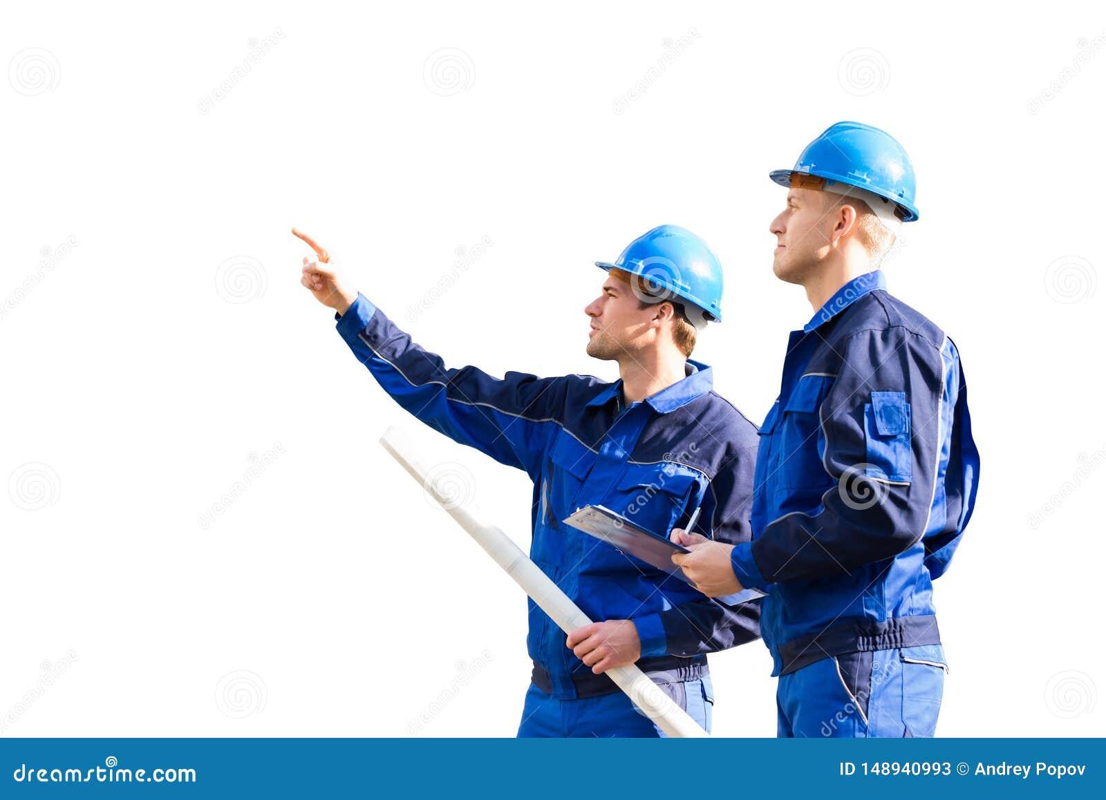 Архитектор показывая что-то к его партнеру