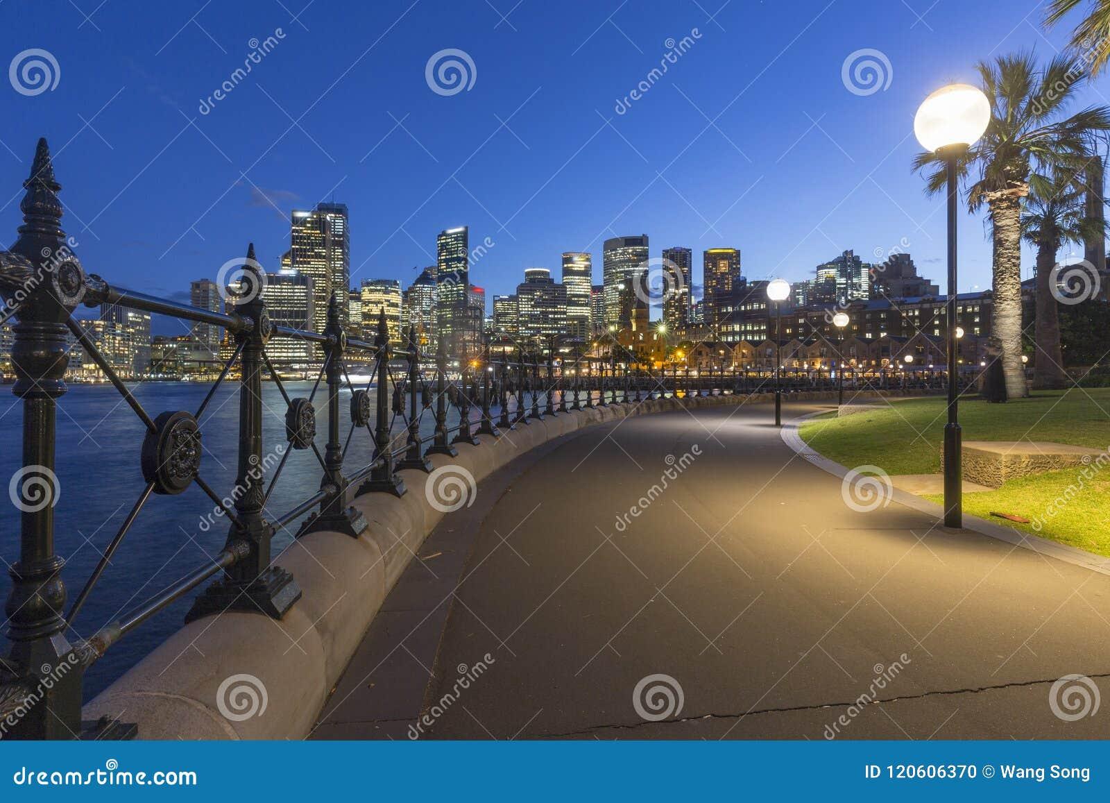Архитектура города Сиднея на ноче