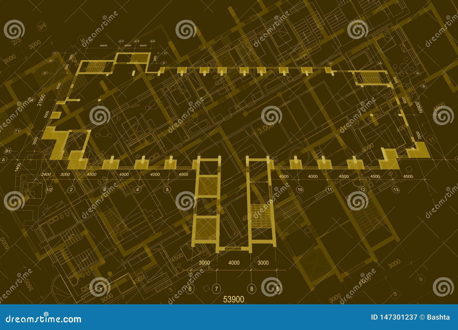 Архитектурноакустическая предпосылка с техническими чертежами r r