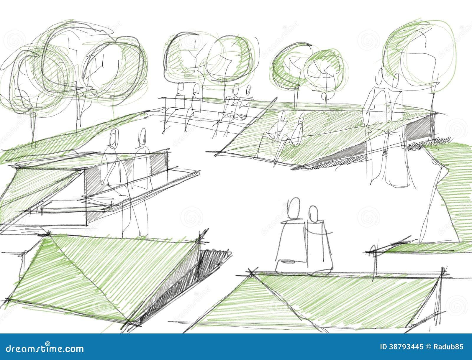 Архитектурноакустический эскиз общественного парка