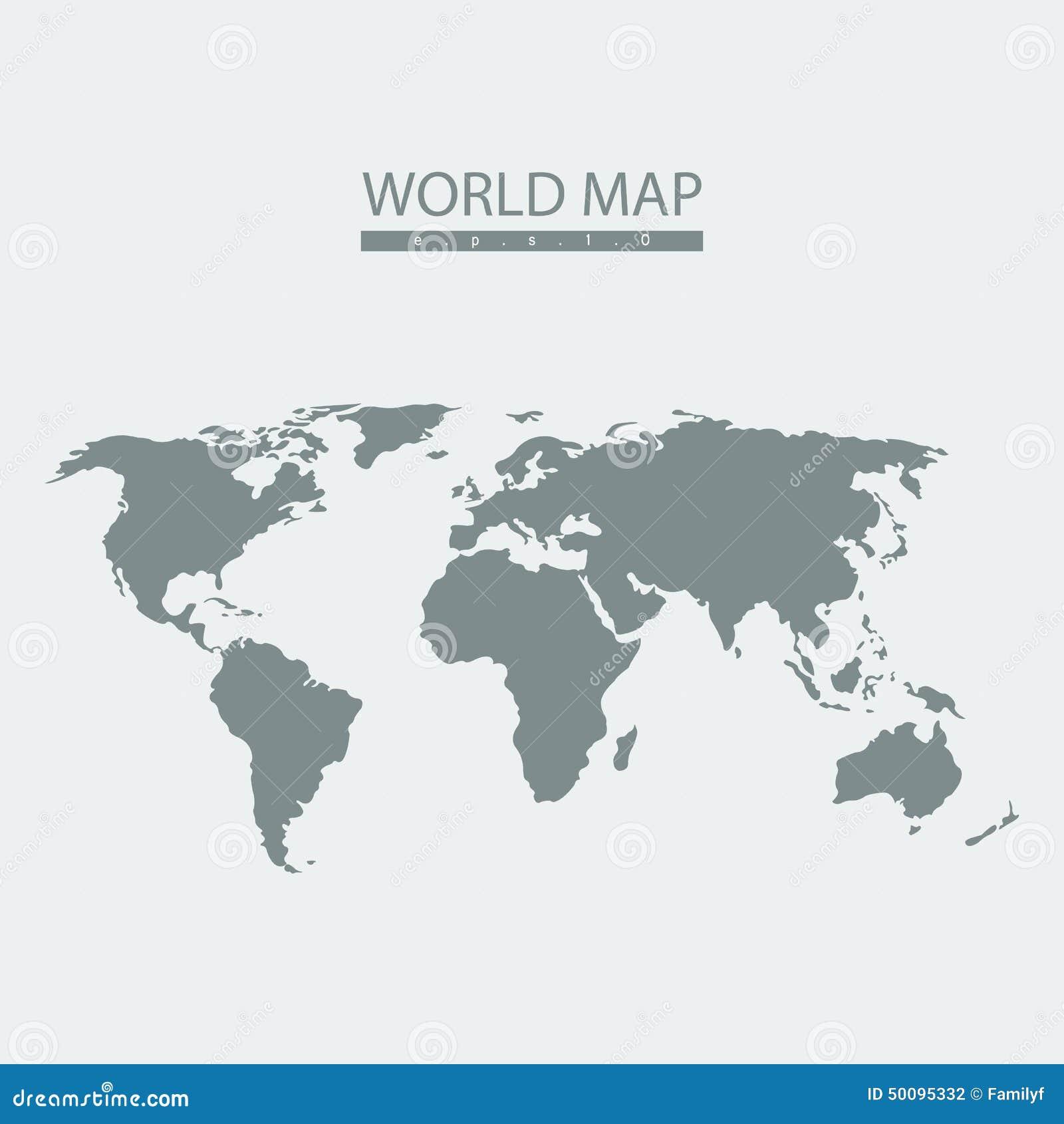 Атлас карты мира вектора