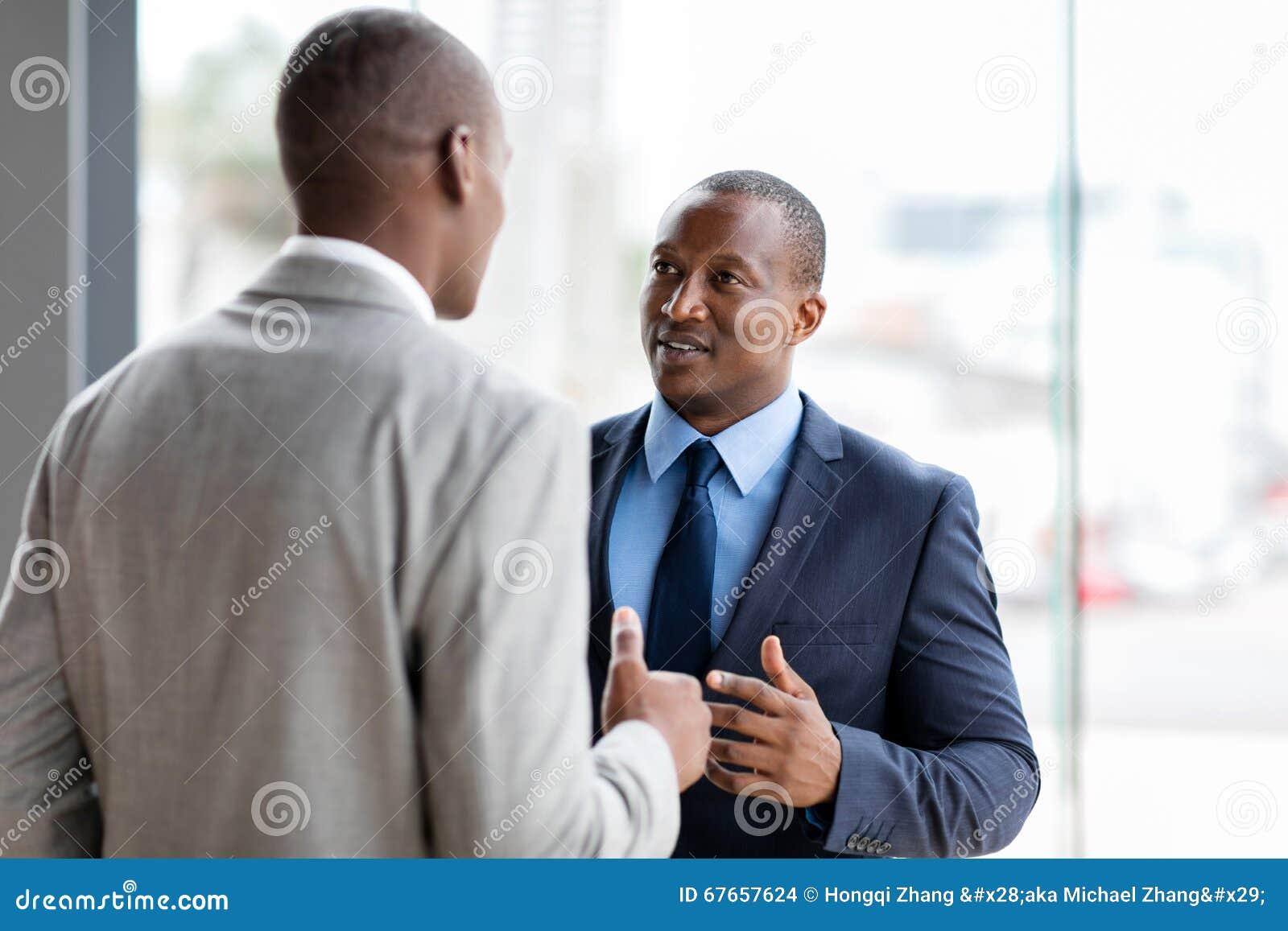 Афро-американский переговор бизнесменов