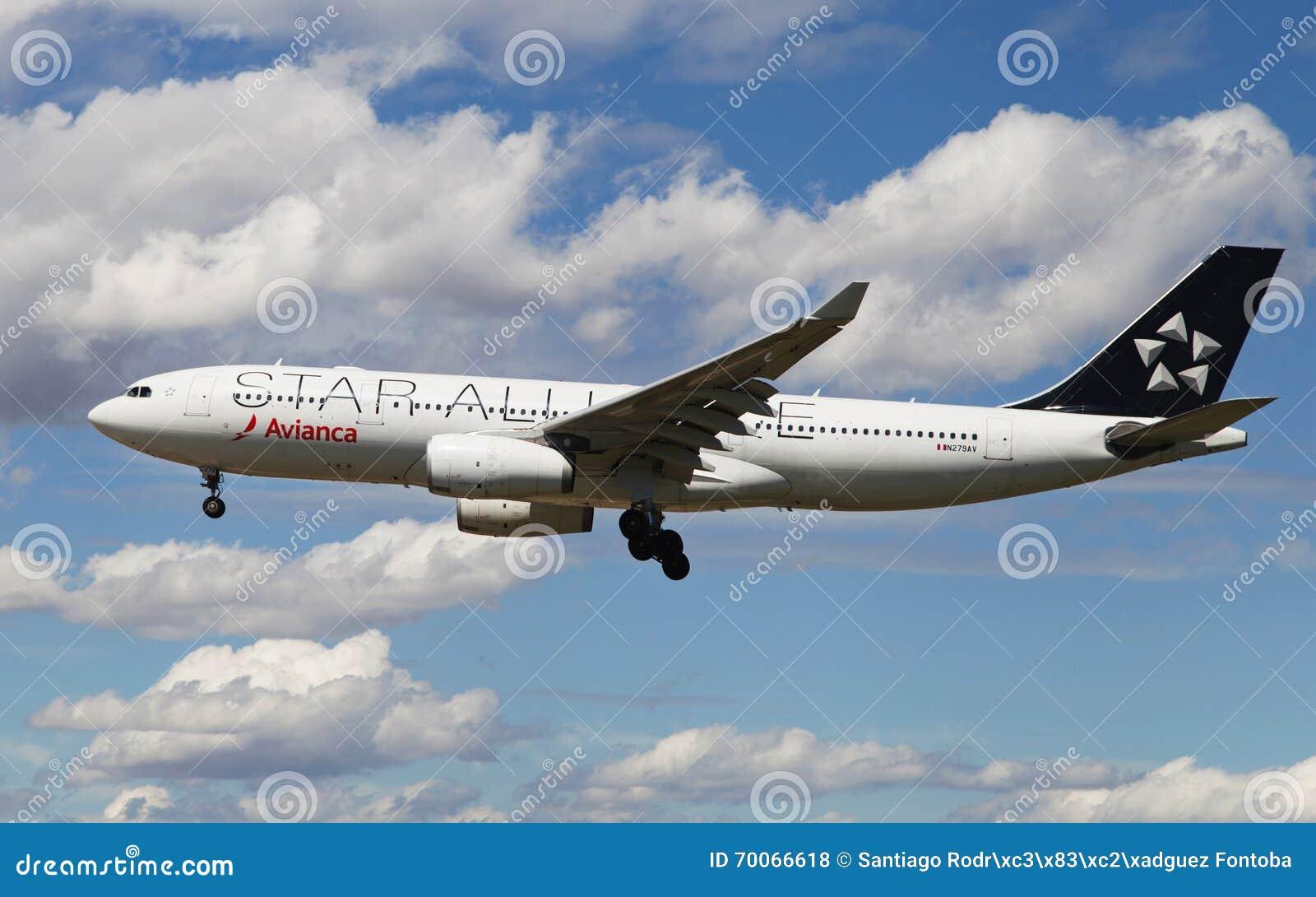Аэробус A330 союзничества звезды Avianca