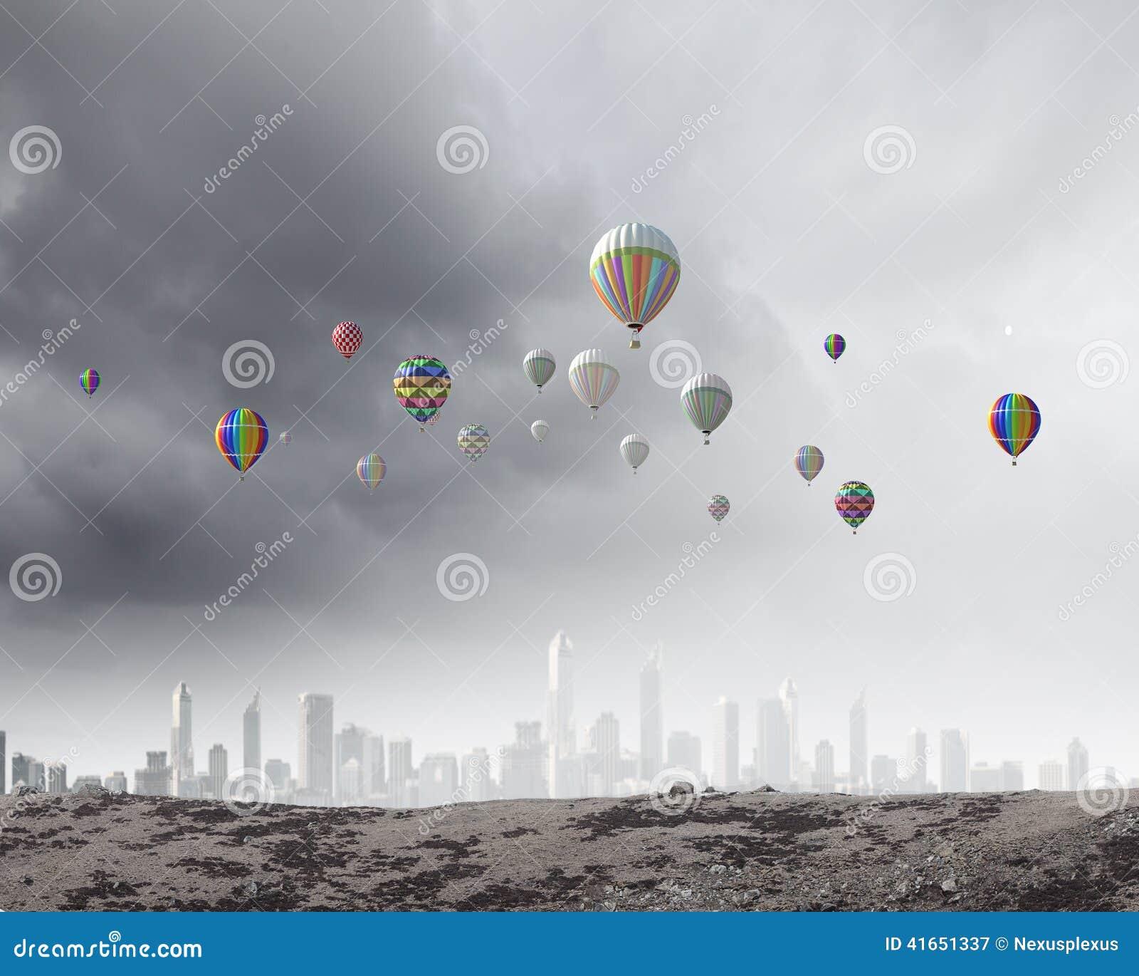 Аэростаты в небе