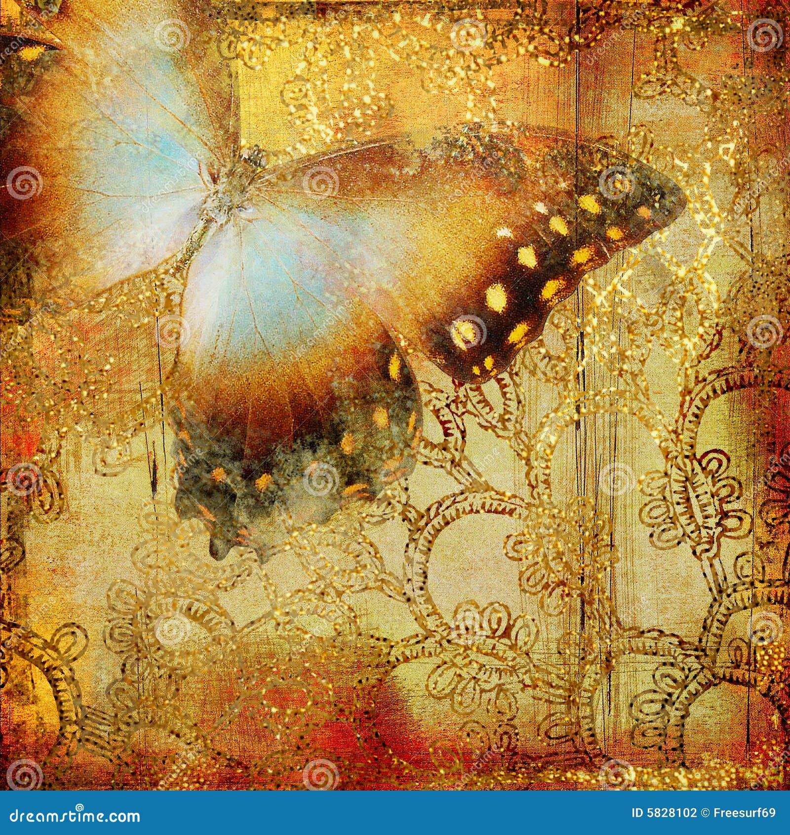 бабочка золотистая