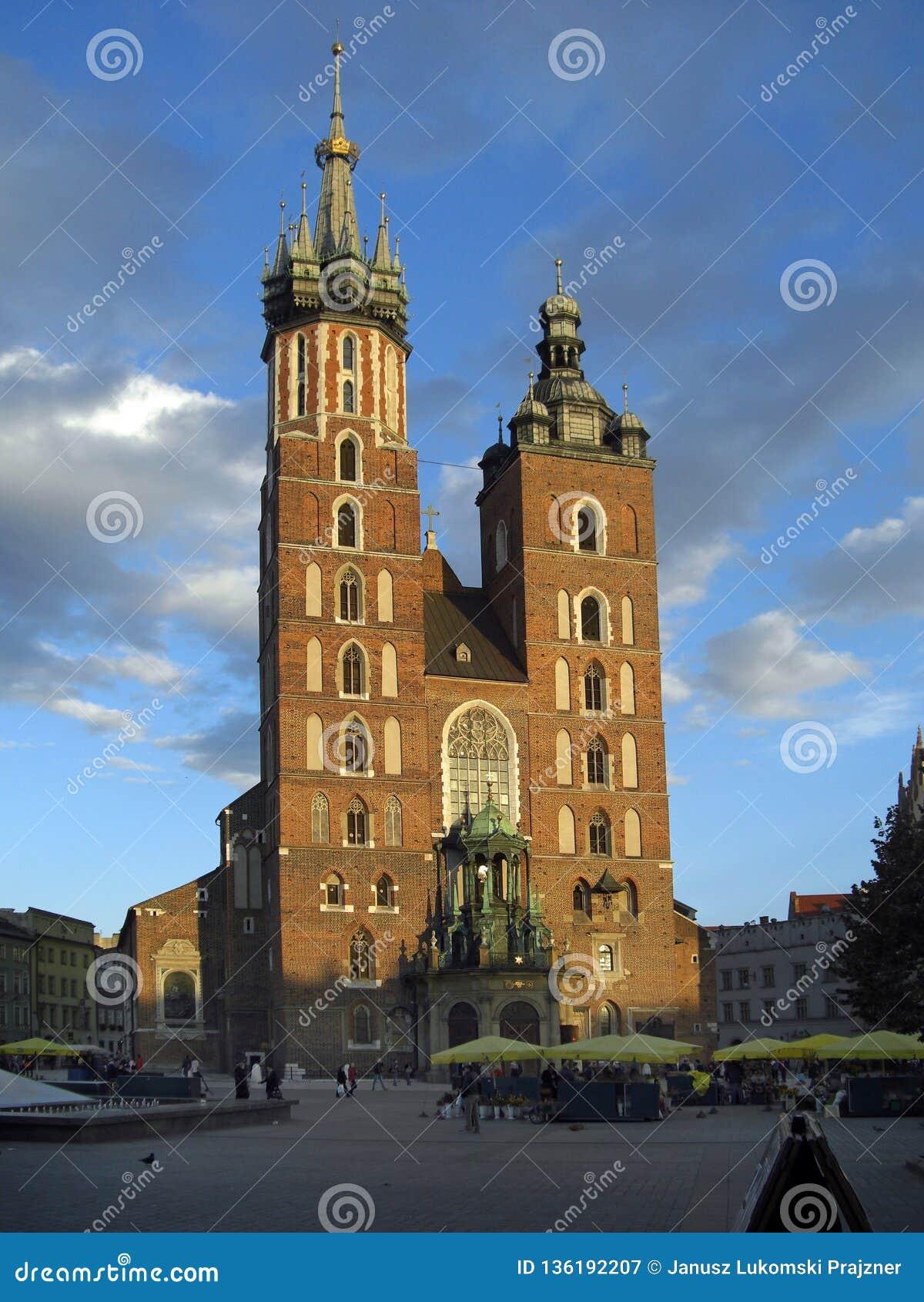 Базилика cracow Польша mary's Святого
