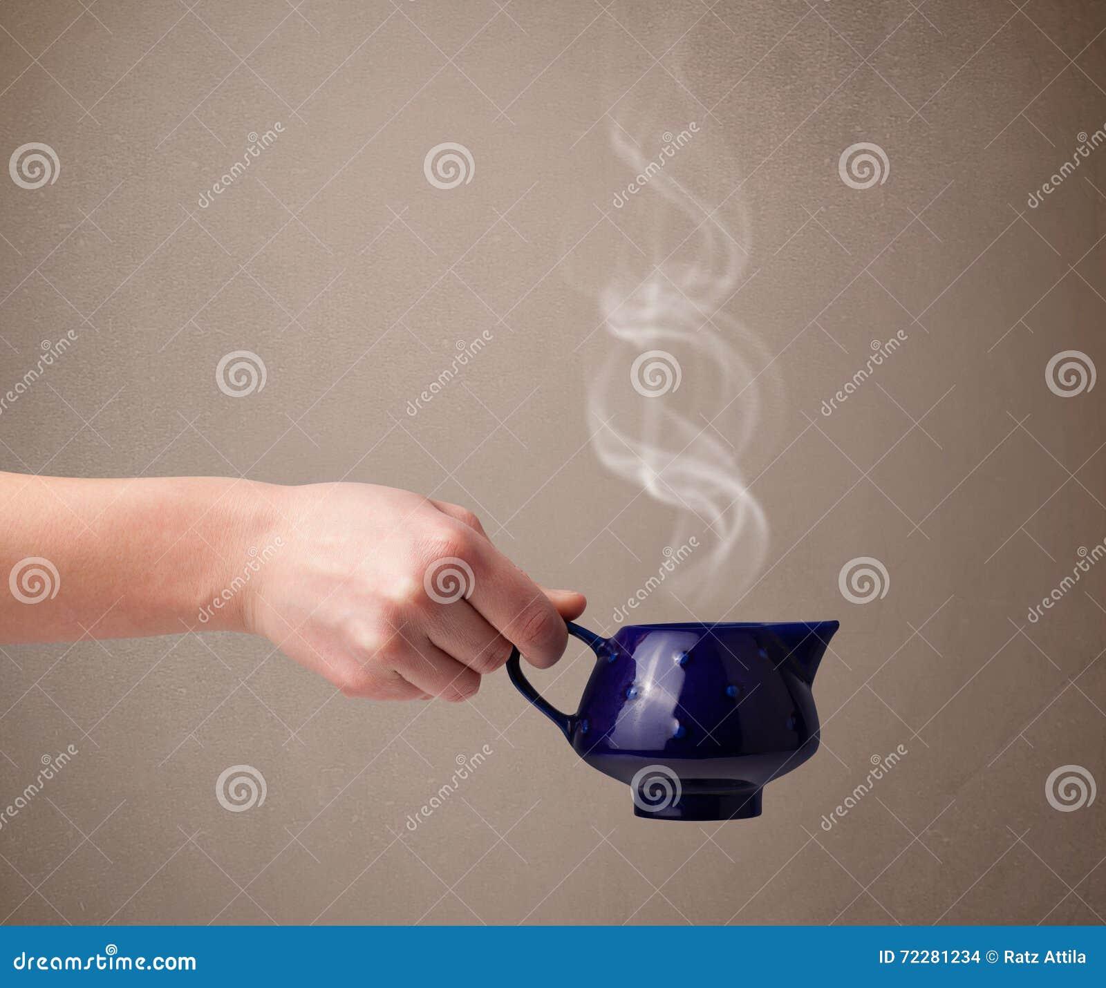 Download Бак чая с абстрактным белым паром Стоковое Фото - изображение насчитывающей черный, питчер: 72281234