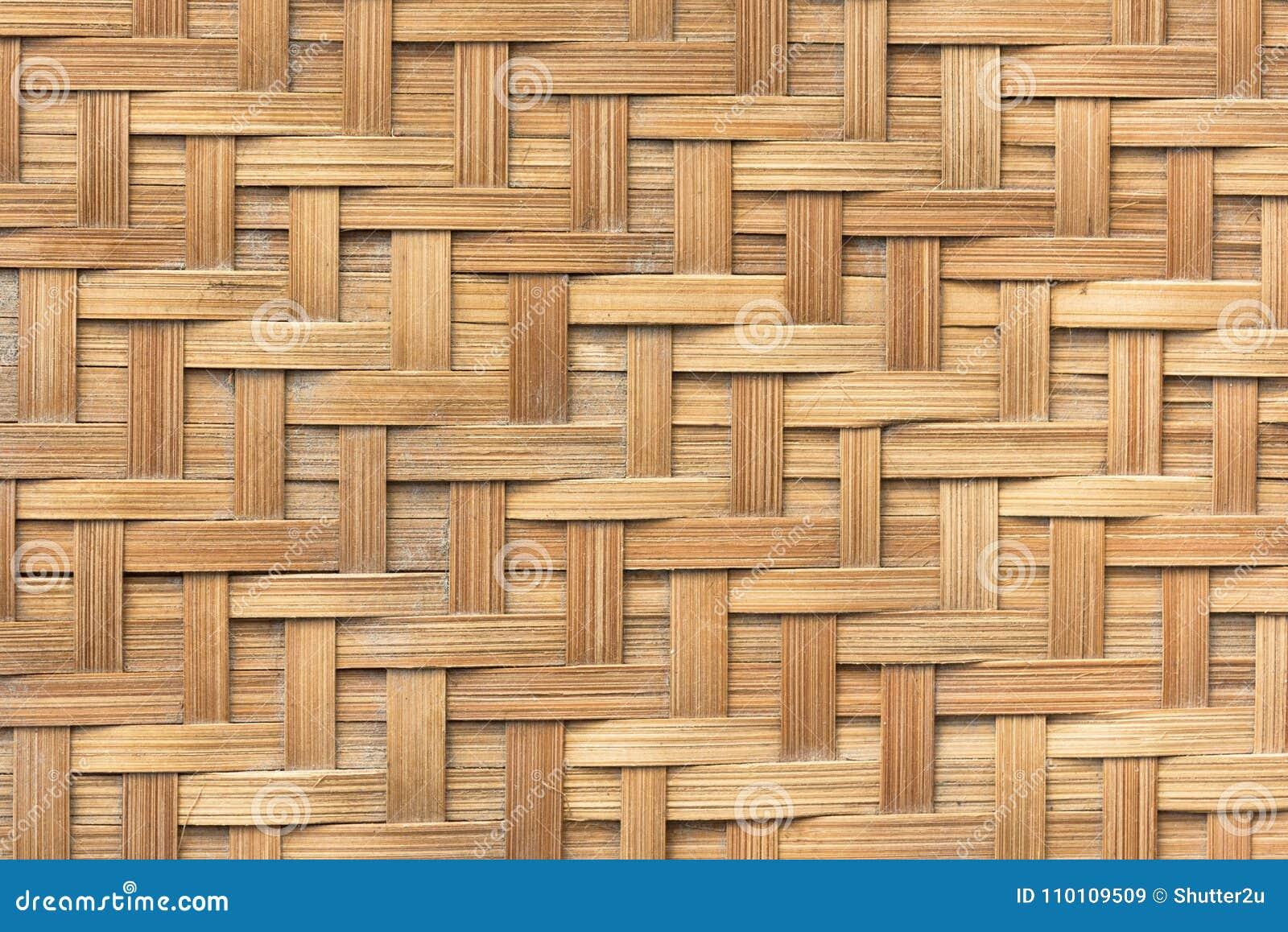 Бамбуковая предпосылка текстуры картины weave корзины Предпосылка и