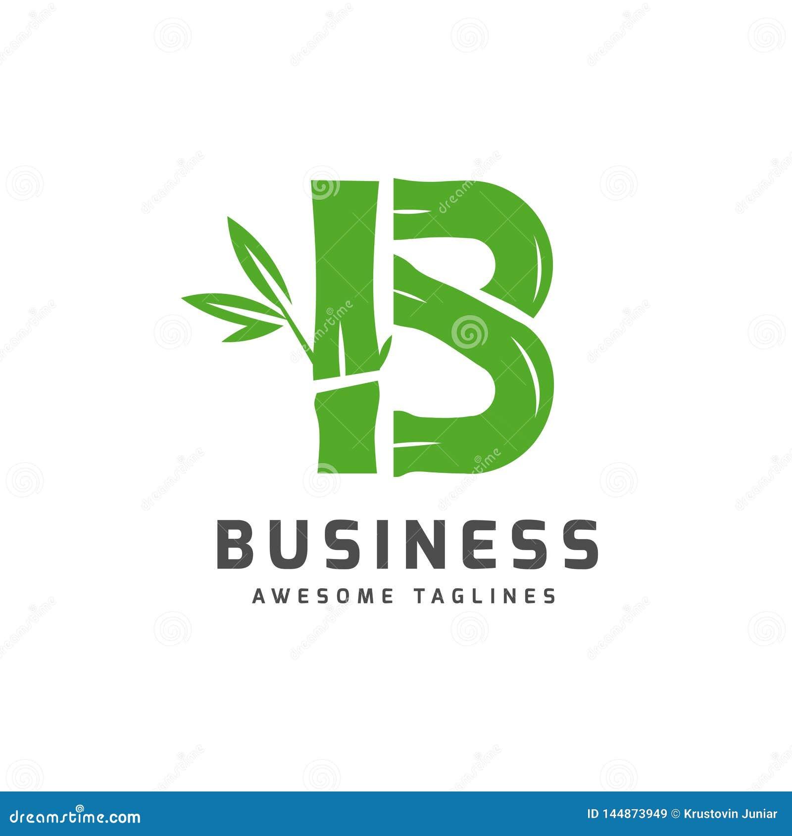 Бамбук с логотипом b начального письма