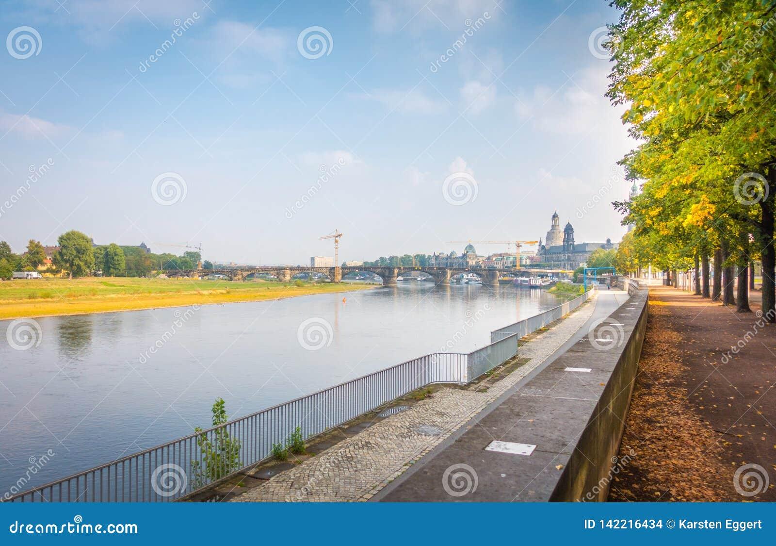 Банки Эльбы в Дрездене