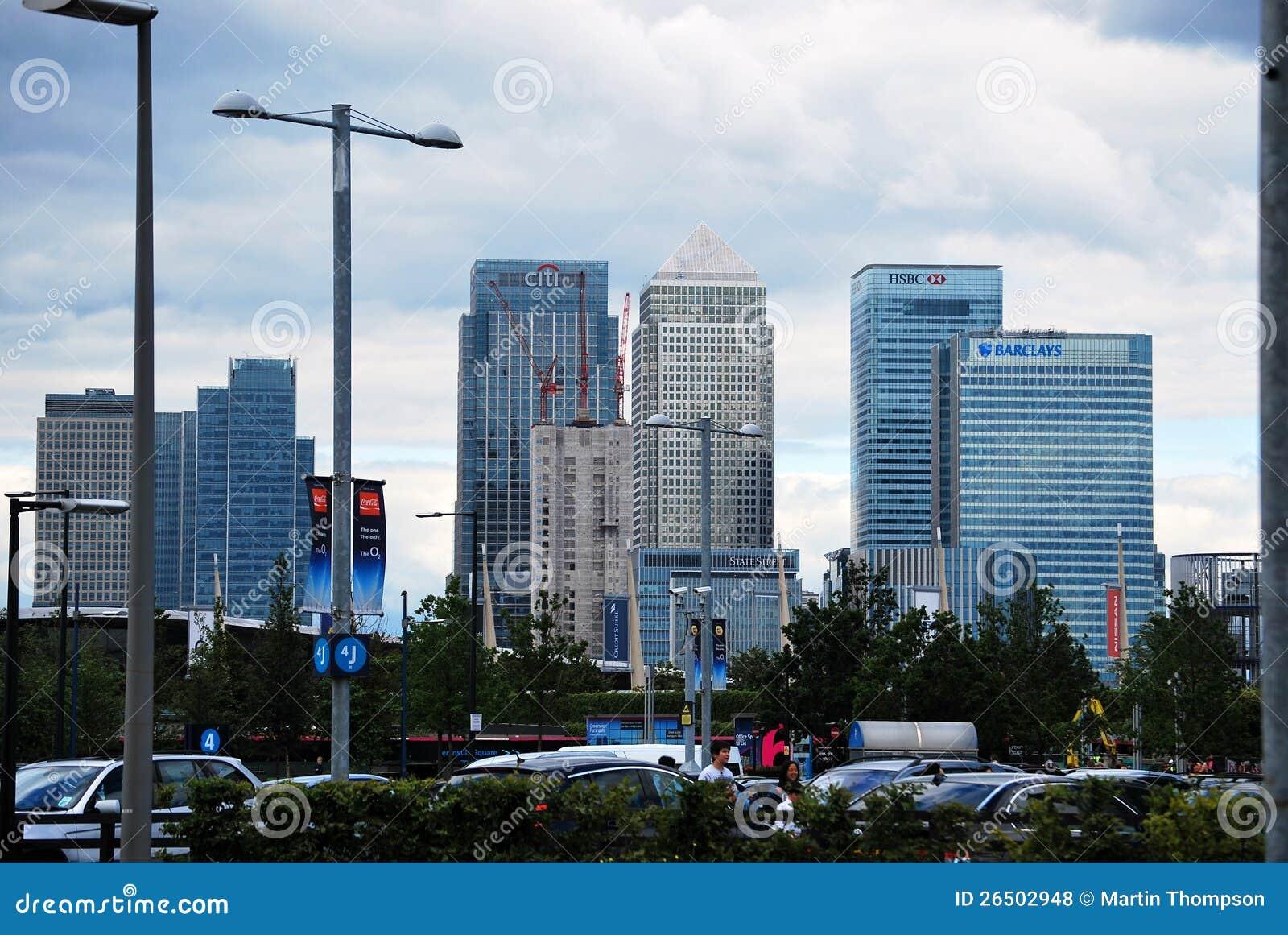 Банкы города увиденные от северного Гринвич