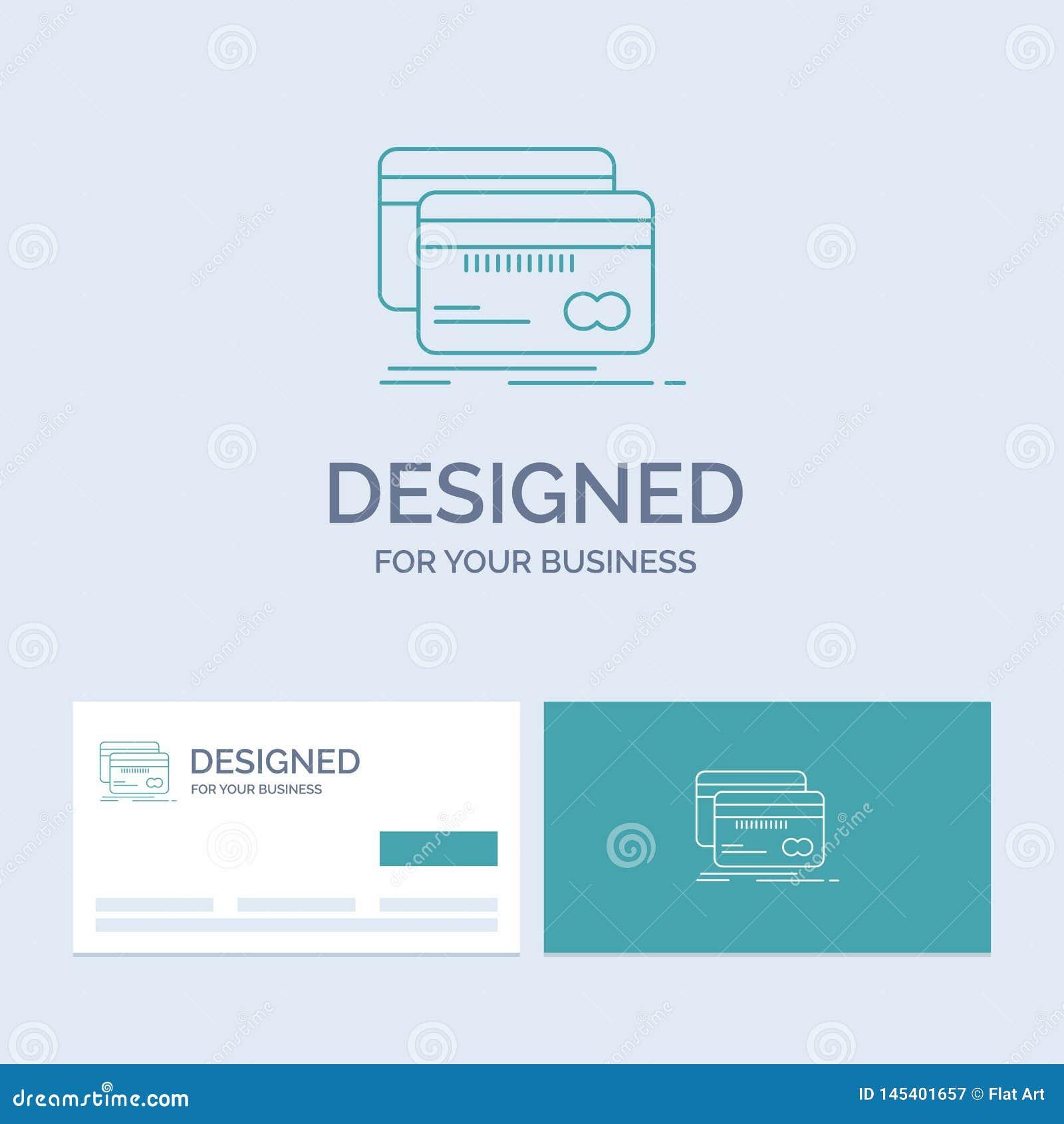 Банк, карта, кредит, дебит, линия символ логотипа дела финансов значка для вашего дела r