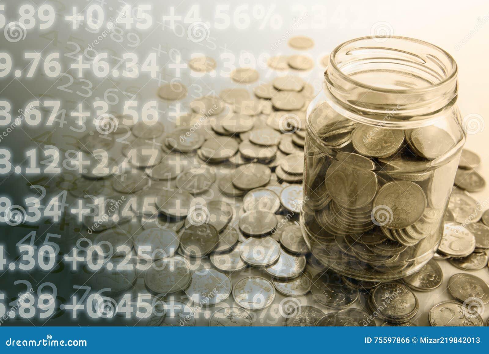 Банк с монетками и подсчитывать