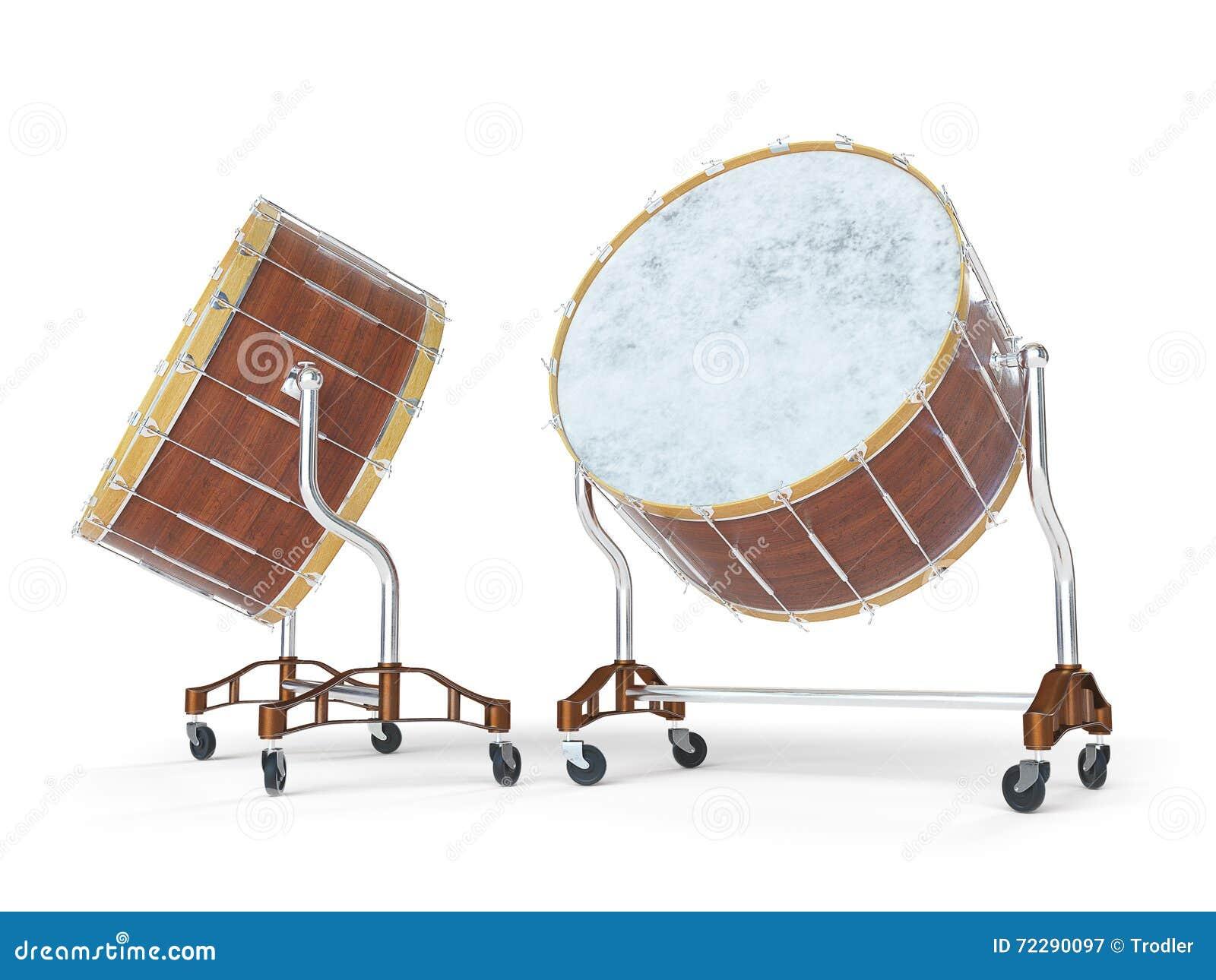 Download Барабанчик оркестра большой на белом переводе 3D Иллюстрация штока - иллюстрации насчитывающей театр, инструмент: 72290097