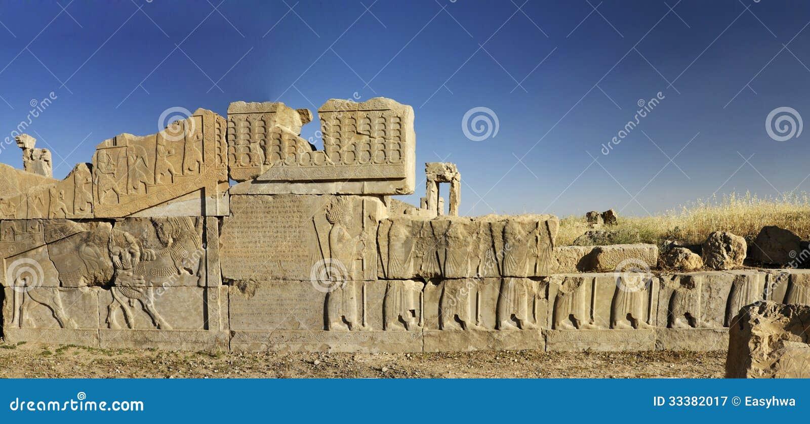 Барельеф руин persepolis, Шираз Иран