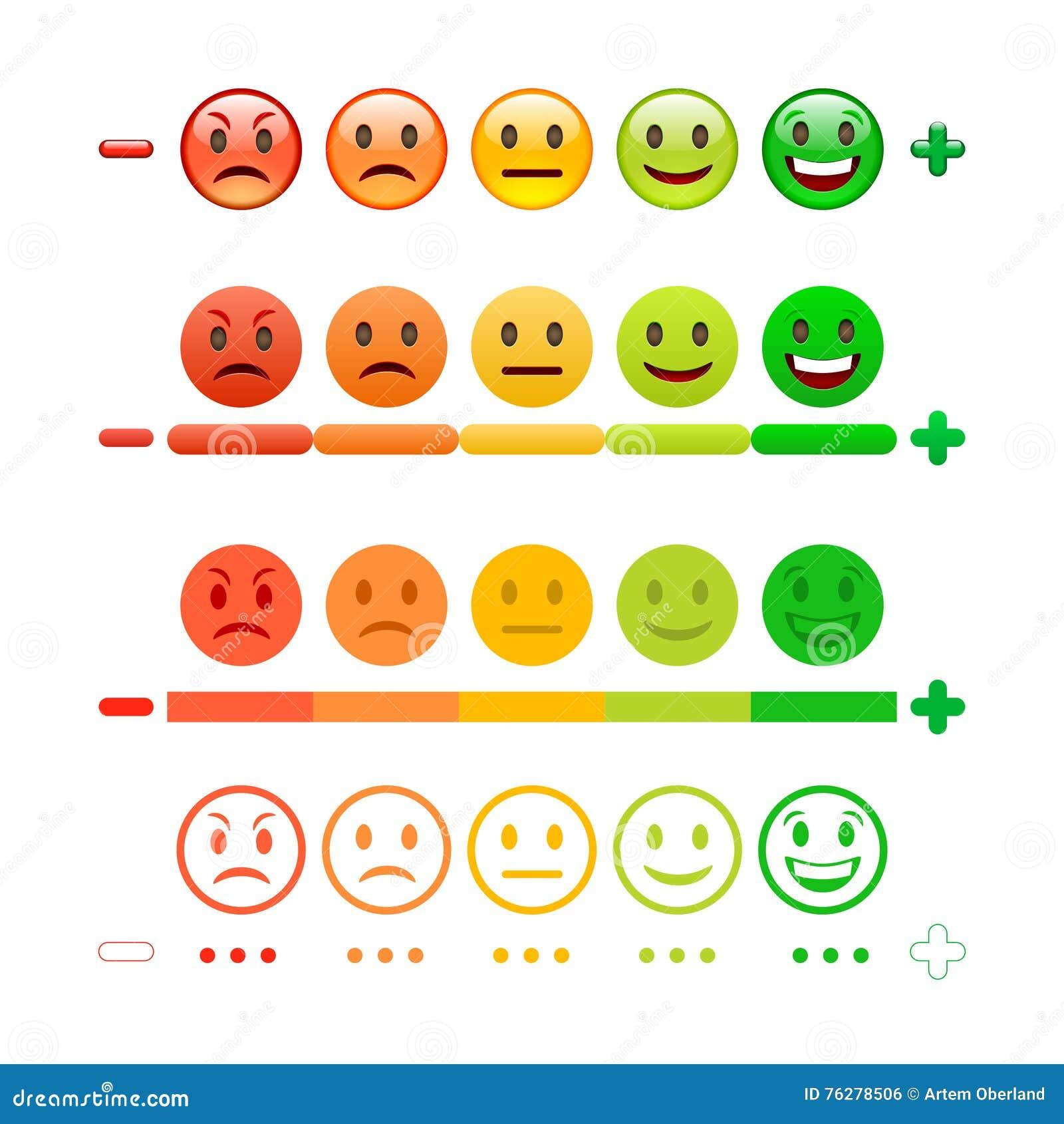 Бар смайлика обратной связи Обратная связь Emoji