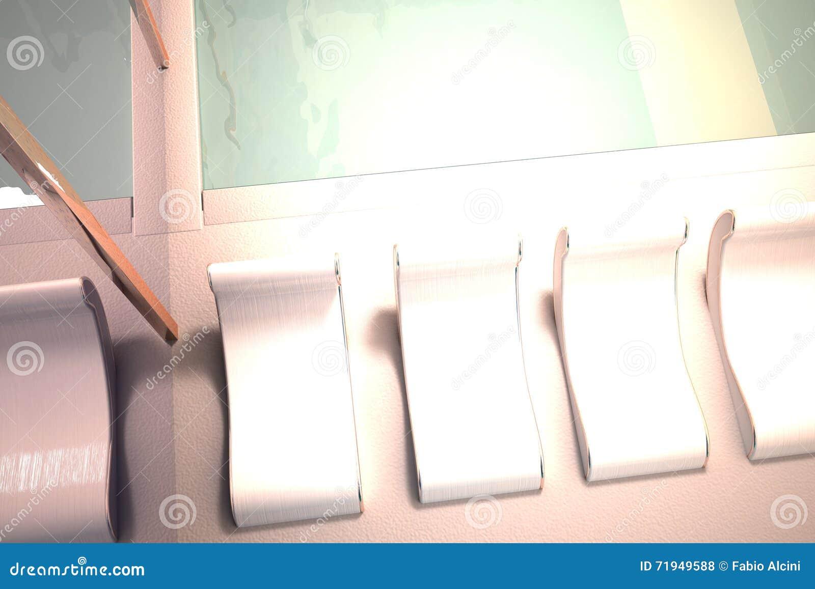 Бассейн с шезлонгами