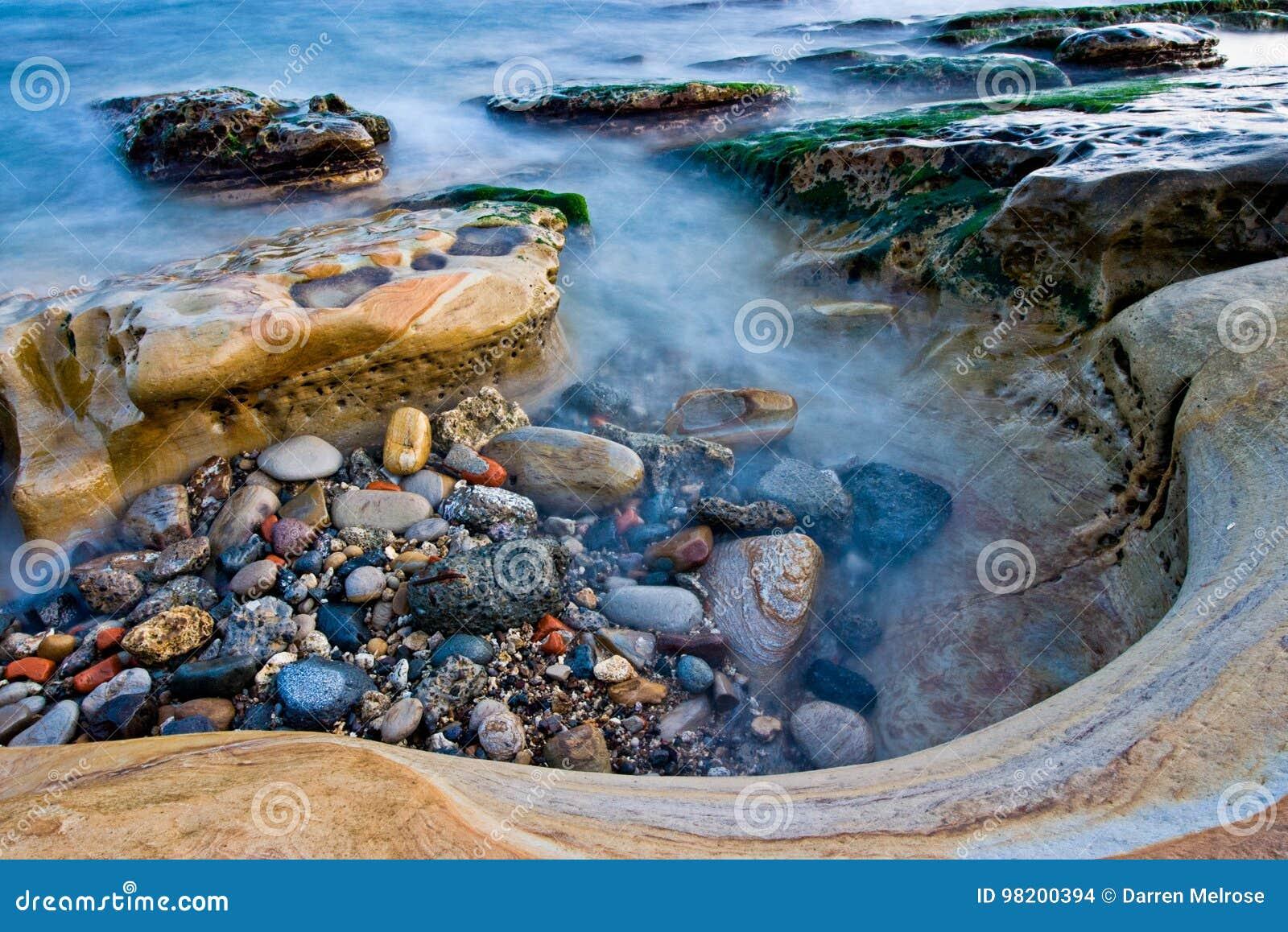 Download Бассейн Yehliu приливный стоковое фото. изображение насчитывающей sunset - 98200394