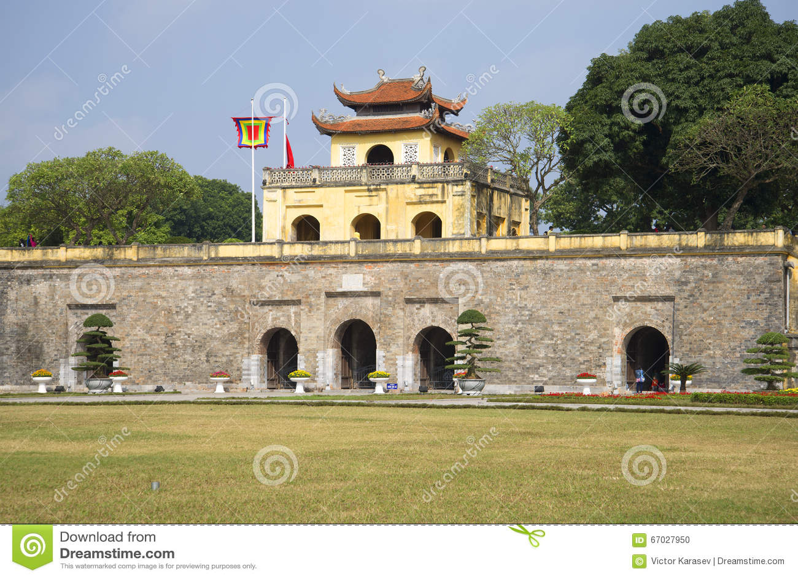 Бастион старой цитадели Ханоя Вьетнам