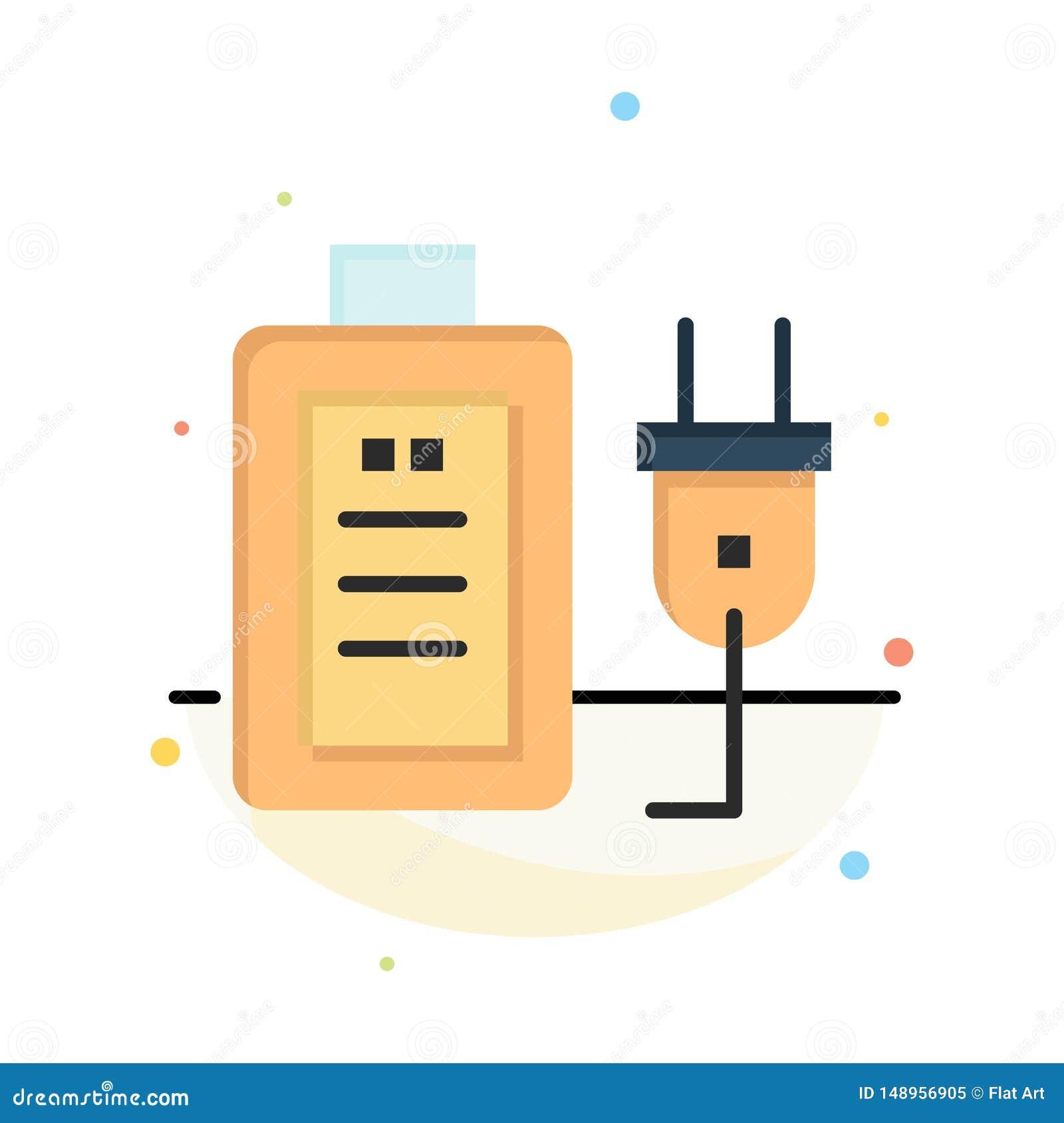 Батарея, обязанность, штепсельная вилка, шаблон значка цвета конспекта образования плоский