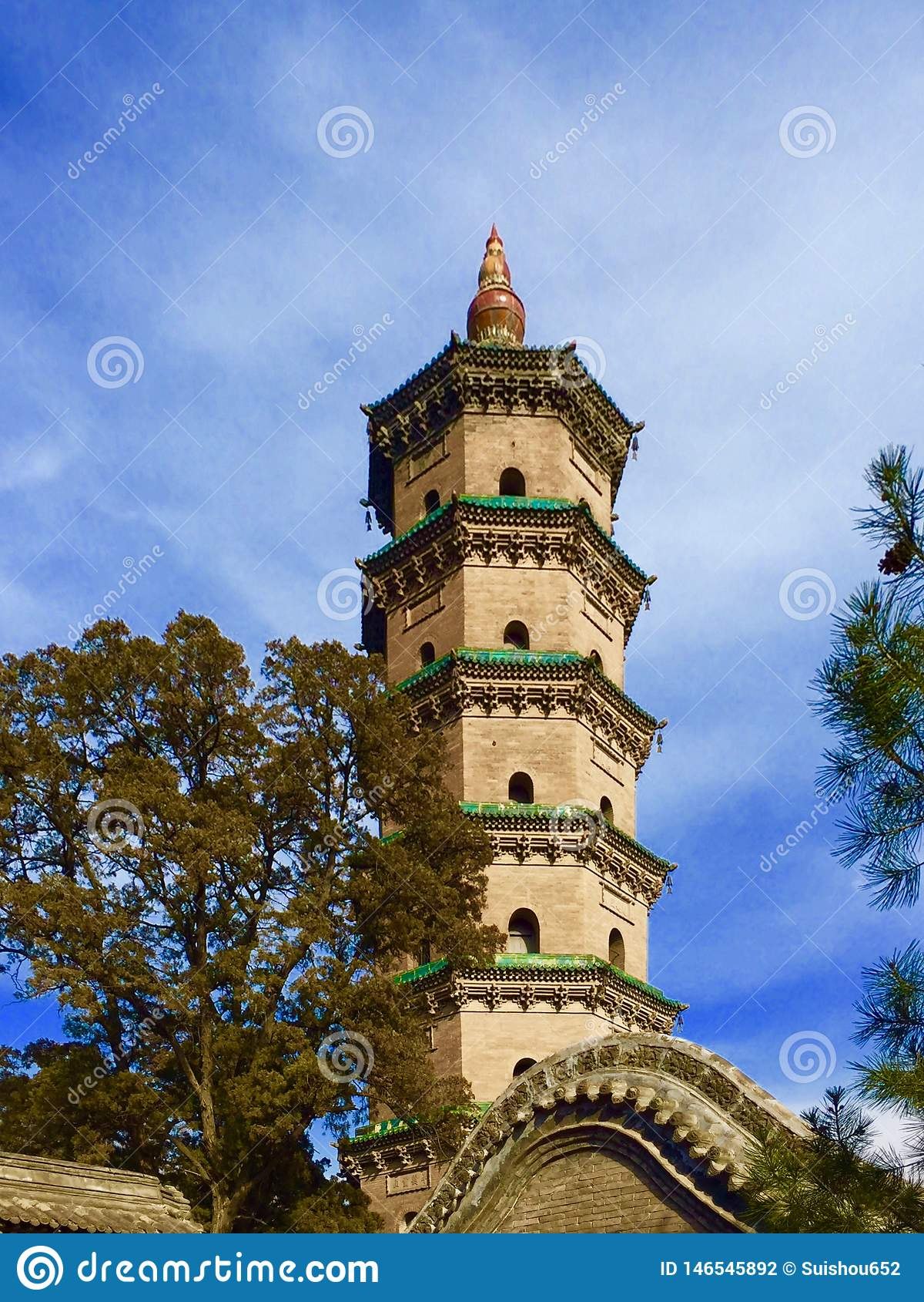 Башня буддизма в jinci Шаньси Китае