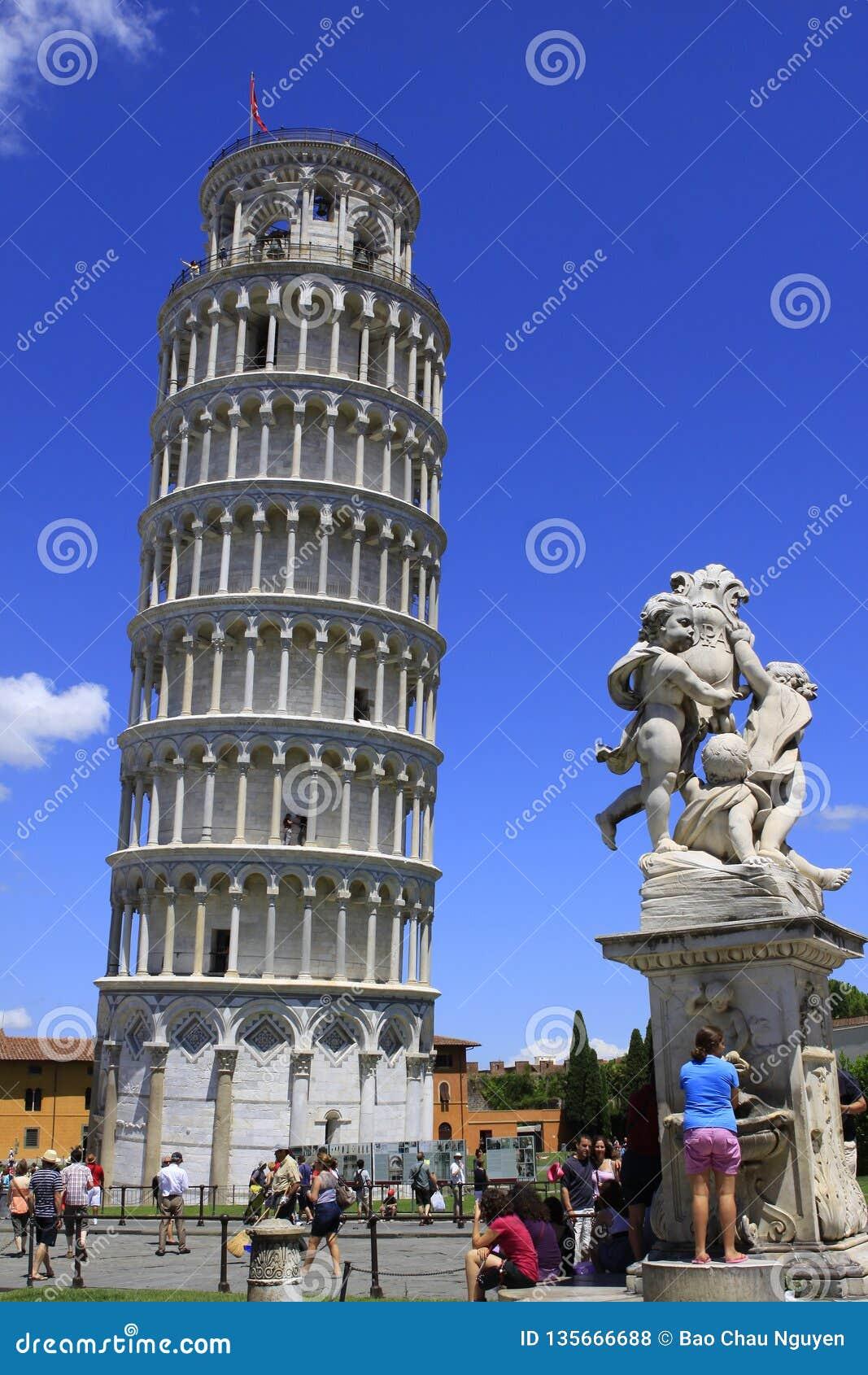 Башня Пизы - провинция Пизы - Италии