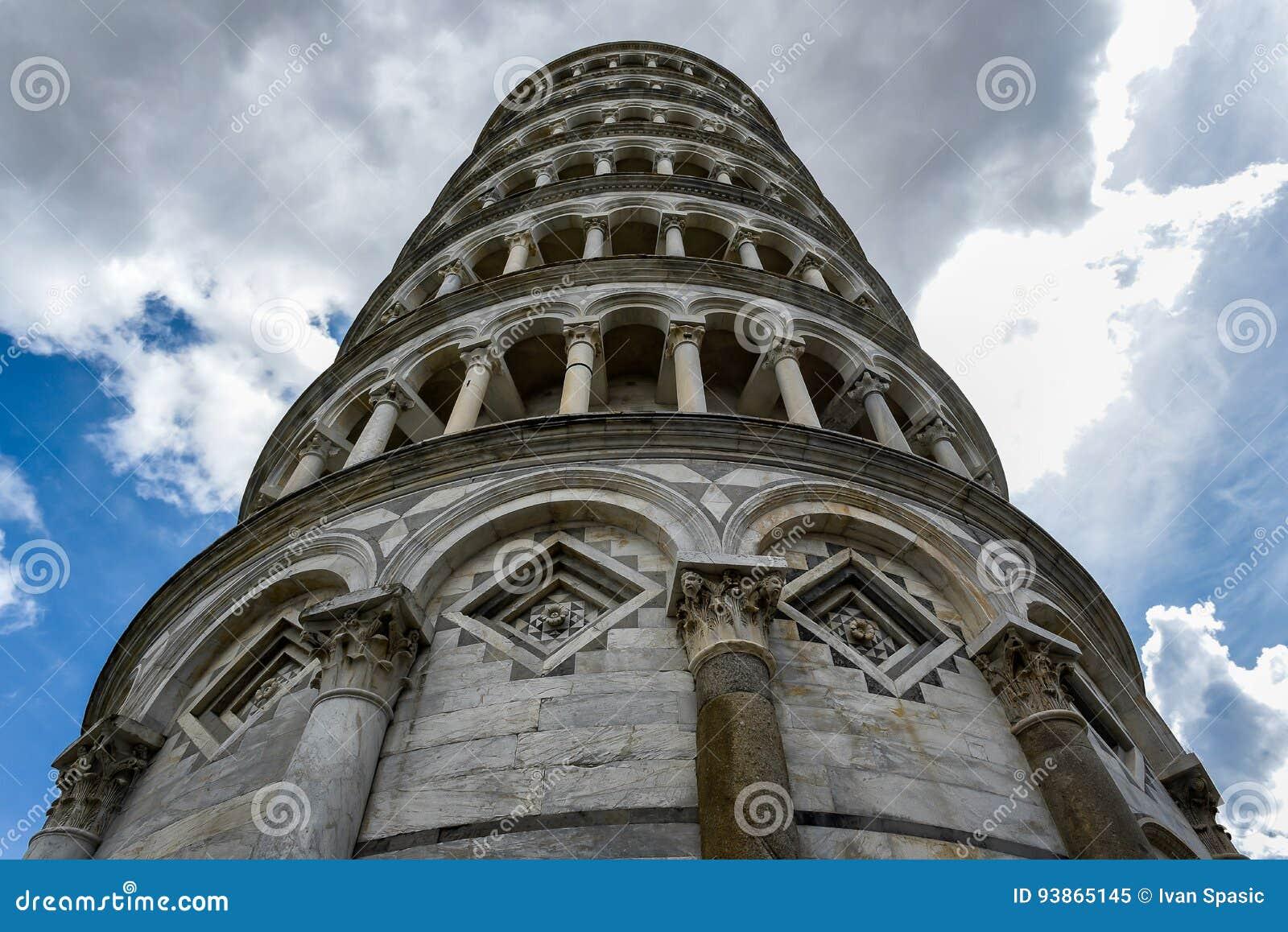 Башня склонности Пизы снизу