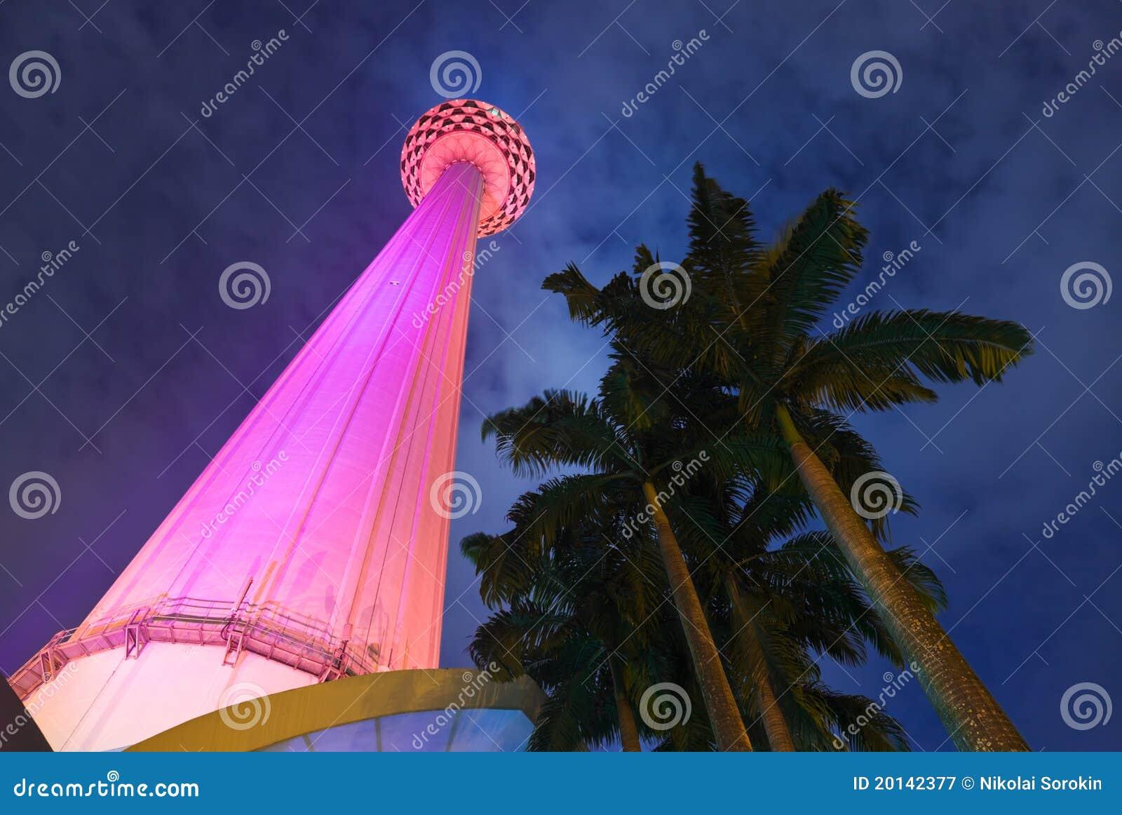 башня tv menara Куала Лумпур Малайзии