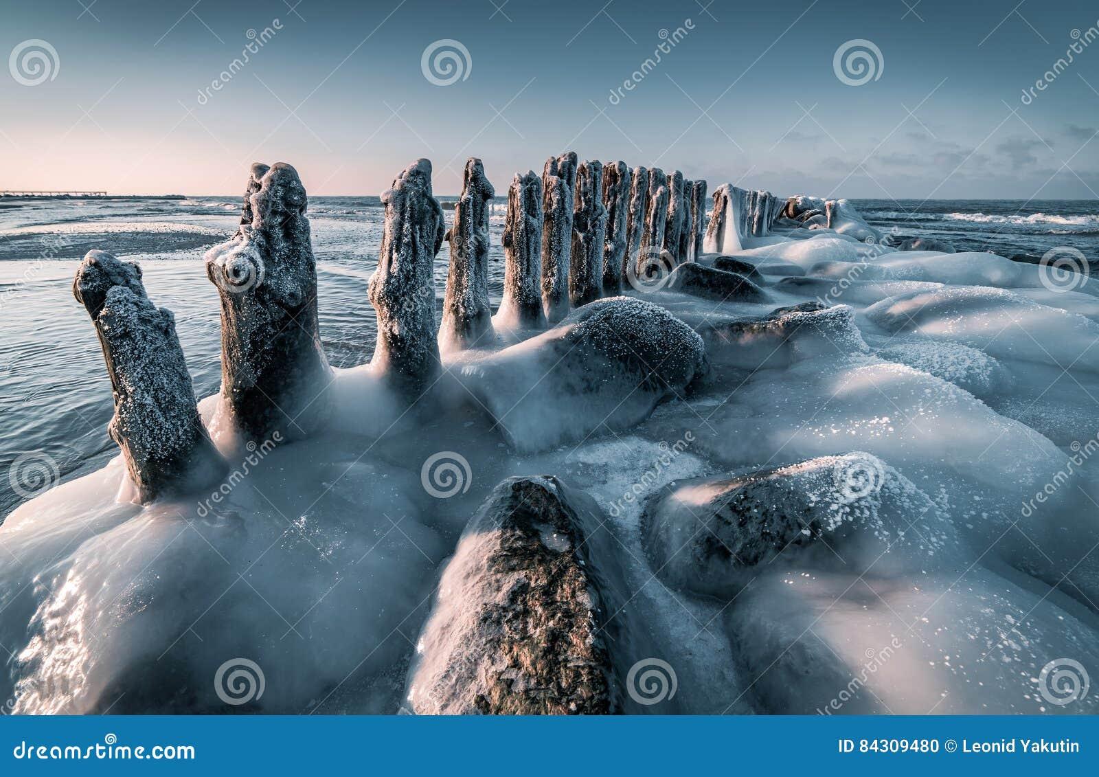 Балтийское море в зиме